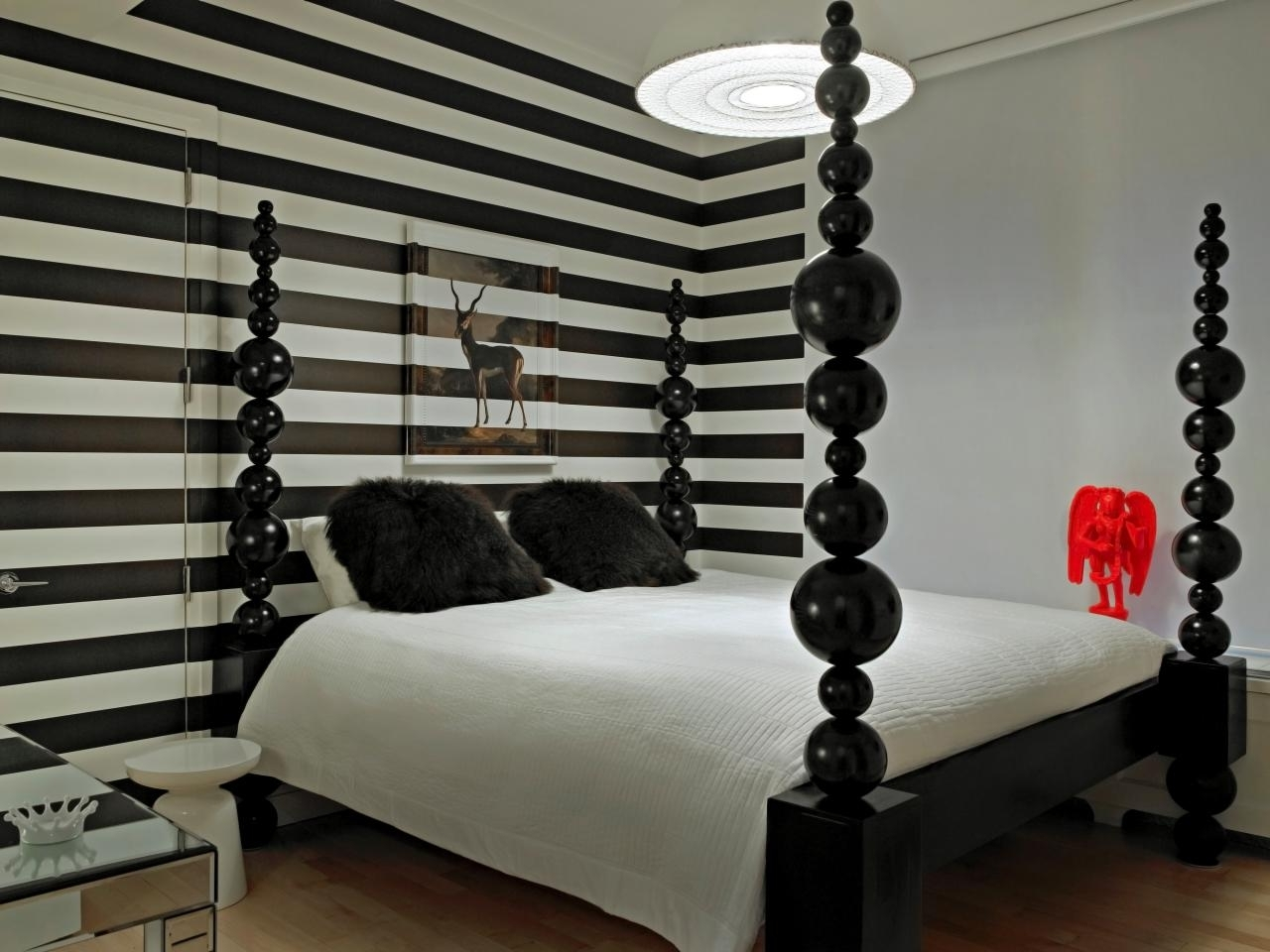 Striped Wall Accent With Horizontal Black White Also Master Within Favorite Horizontal Stripes Wall Accents (View 15 of 15)
