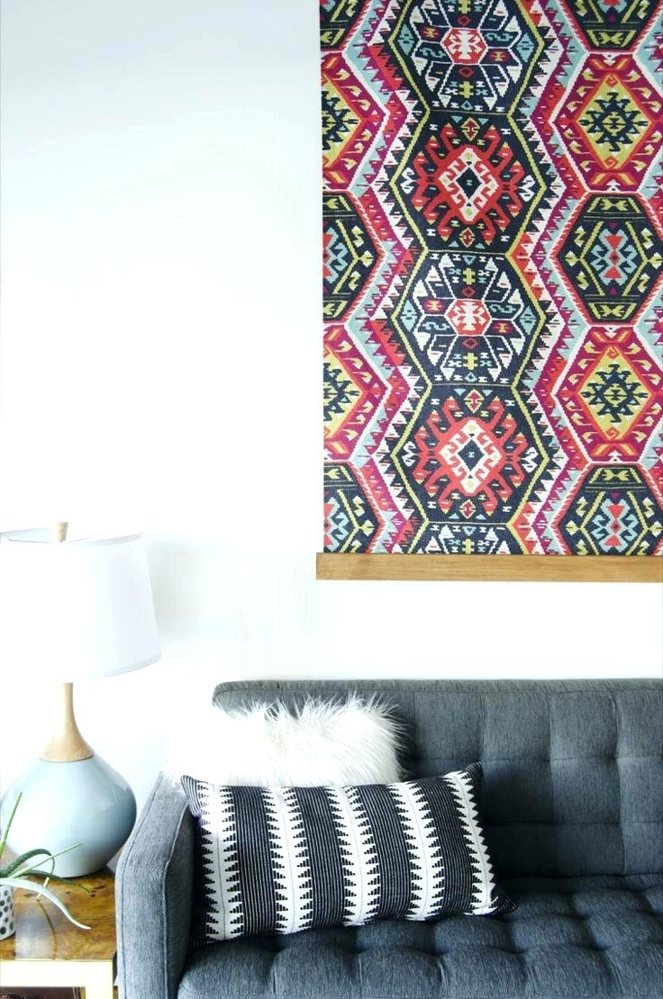 Styrofoam Fabric Wall Art With Regard To Most Current Wall Arts ~ How To Make Large Fabric Panel Wall Art Fabric Panel (View 10 of 15)