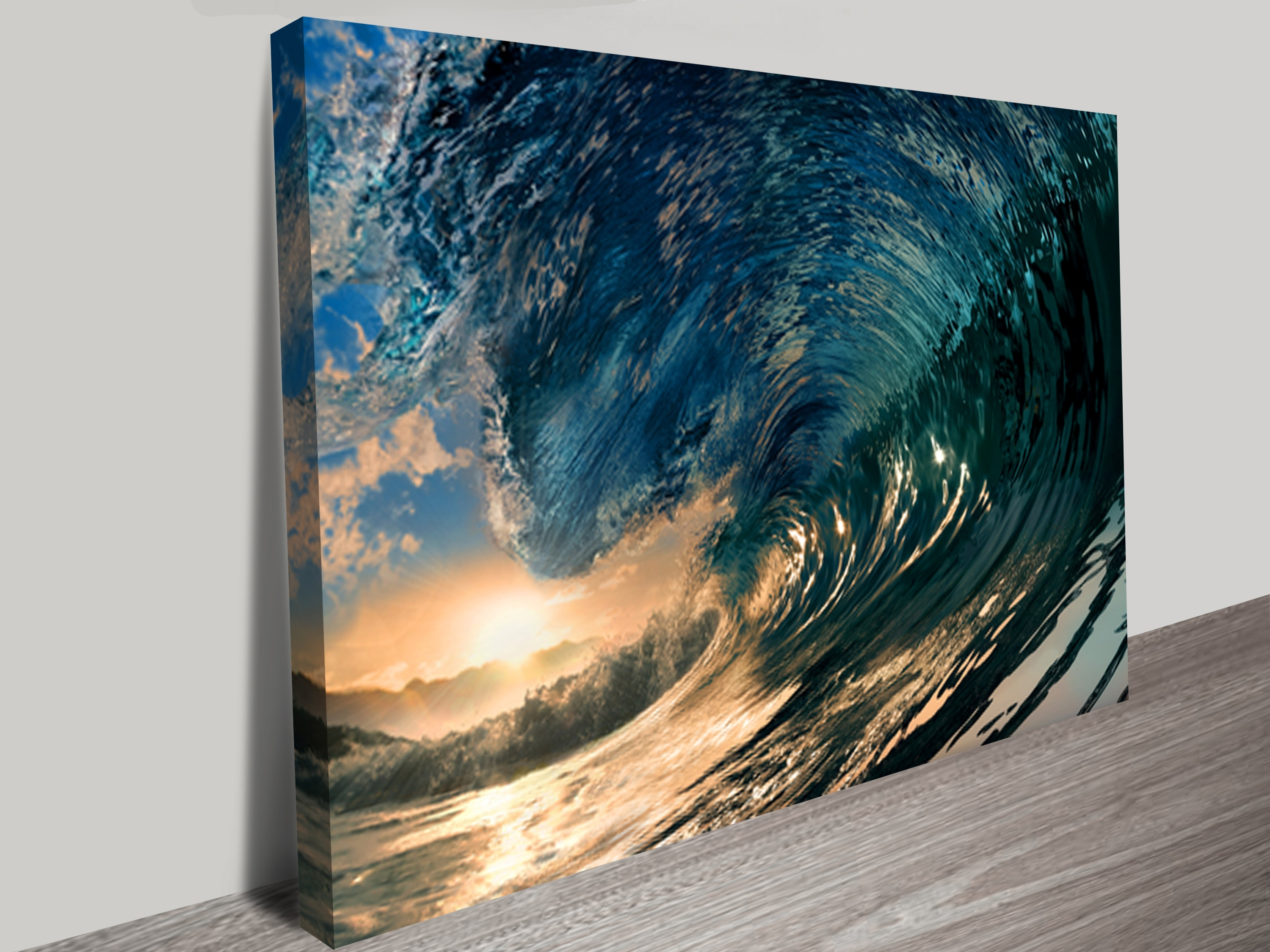 Sunset Wave Wall Art Throughout Canvas Wall Art In Melbourne (View 14 of 15)