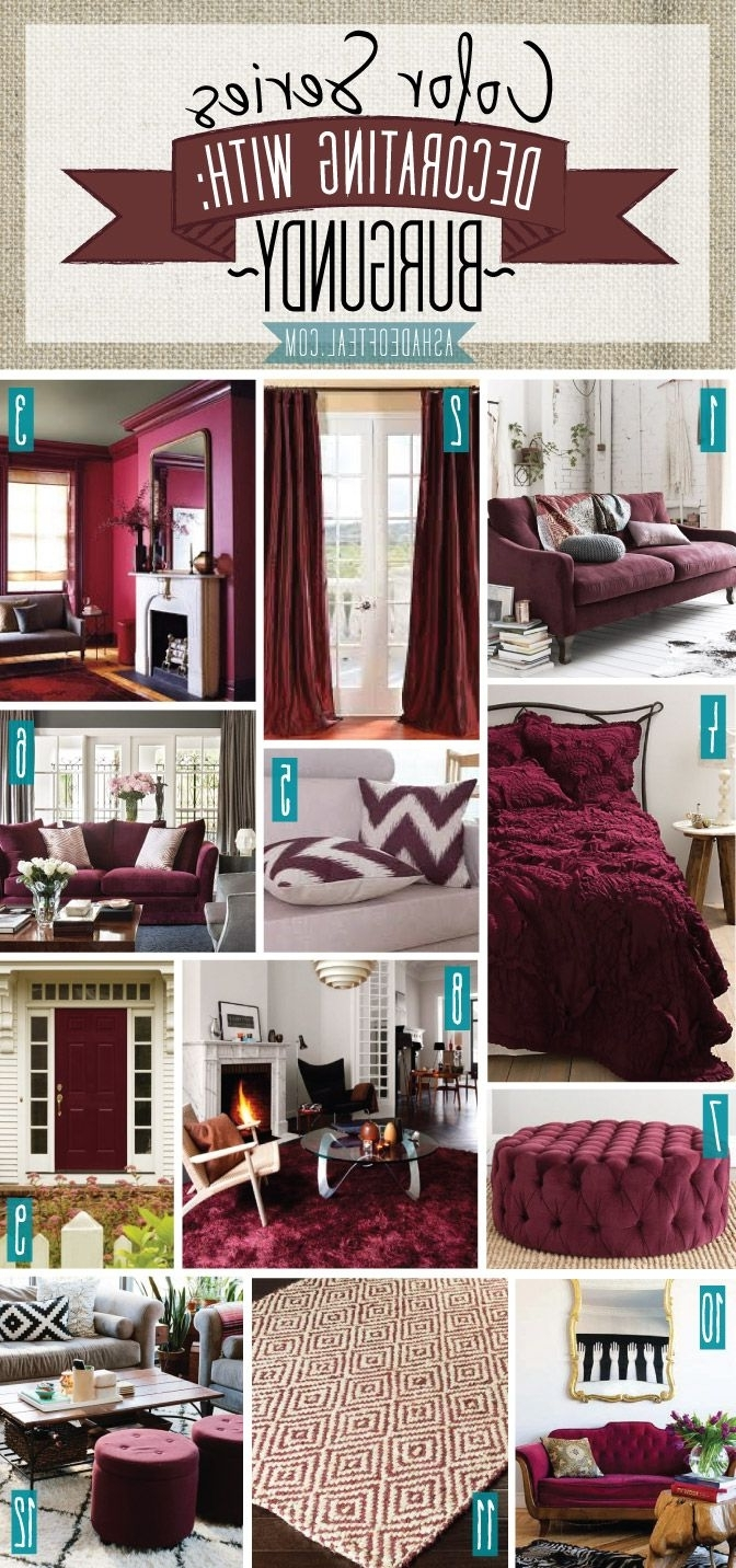 Teal, Decorating And Bedrooms With Regard To Maroon Wall Accents (View 15 of 15)