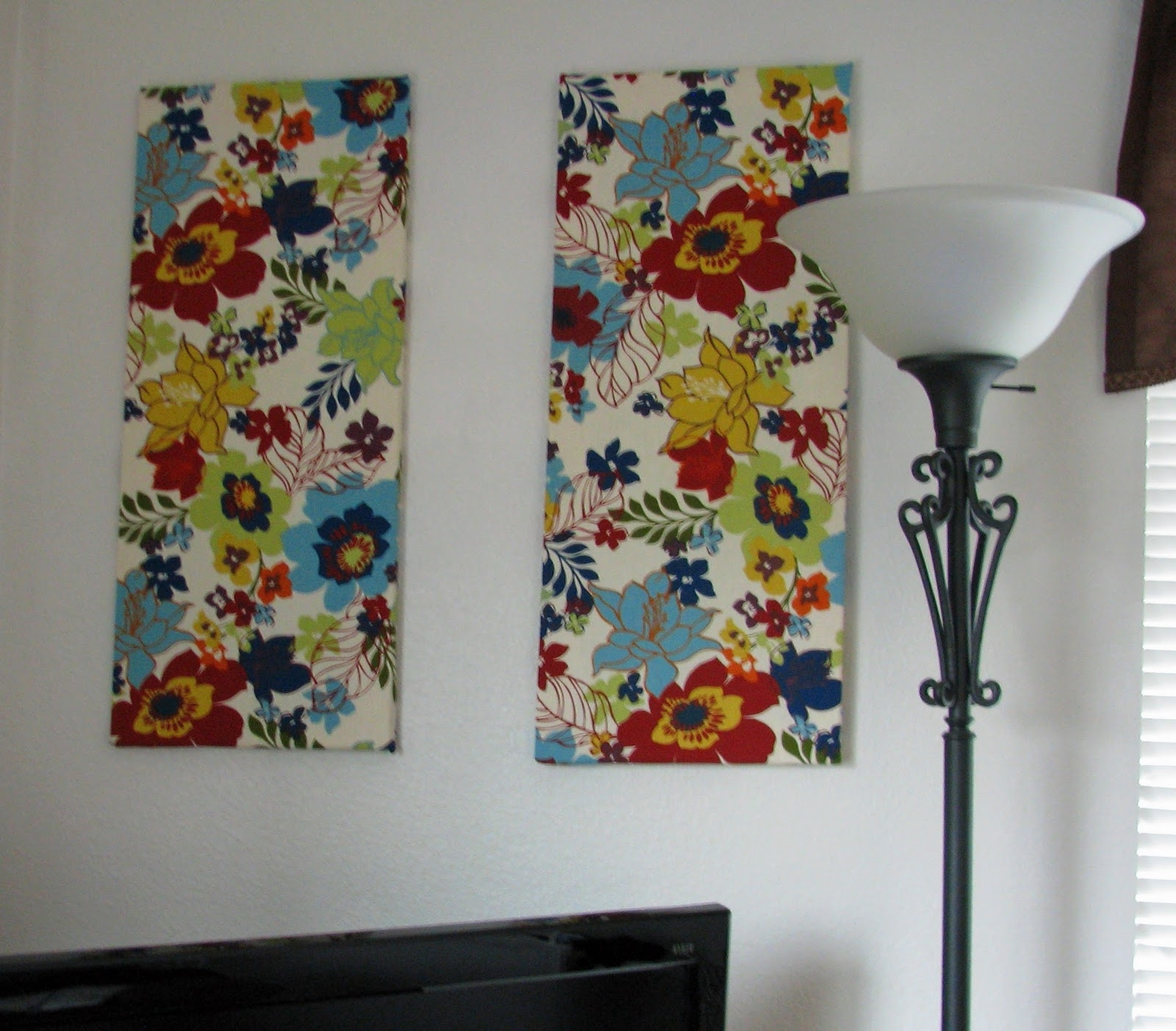 The Closet Domestic: Hiding White Walls: Fabric Wall Art With Recent Canvas And Fabric Wall Art (View 12 of 15)