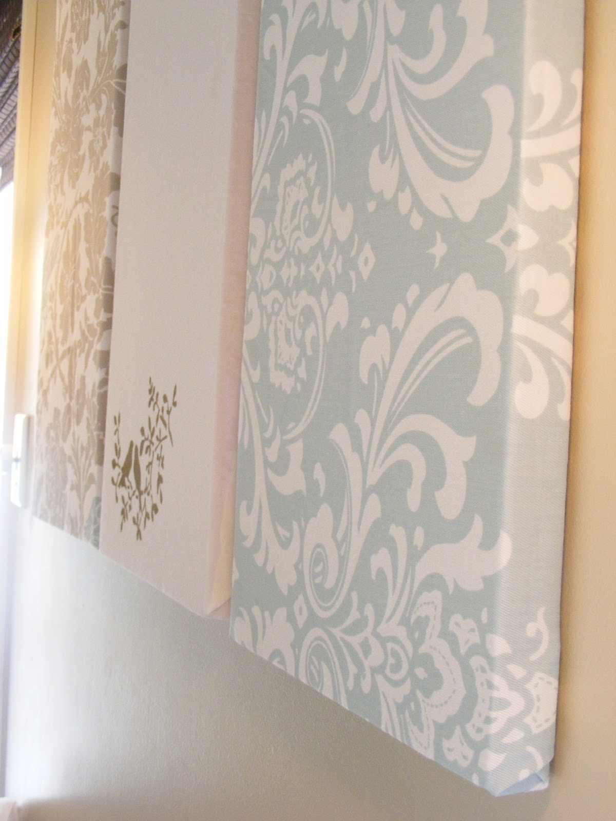 The Complete Guide To Imperfect Homemaking: Simple, Thrifty Diy Art Intended For Newest Damask Fabric Wall Art (View 14 of 15)