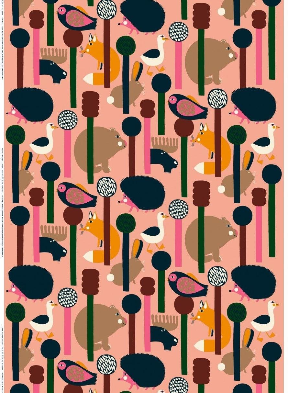 Tiles, Wallpapers, Prints, Patterns With Regard To Marimekko 'karkuteilla' Fabric Wall Art (View 3 of 15)