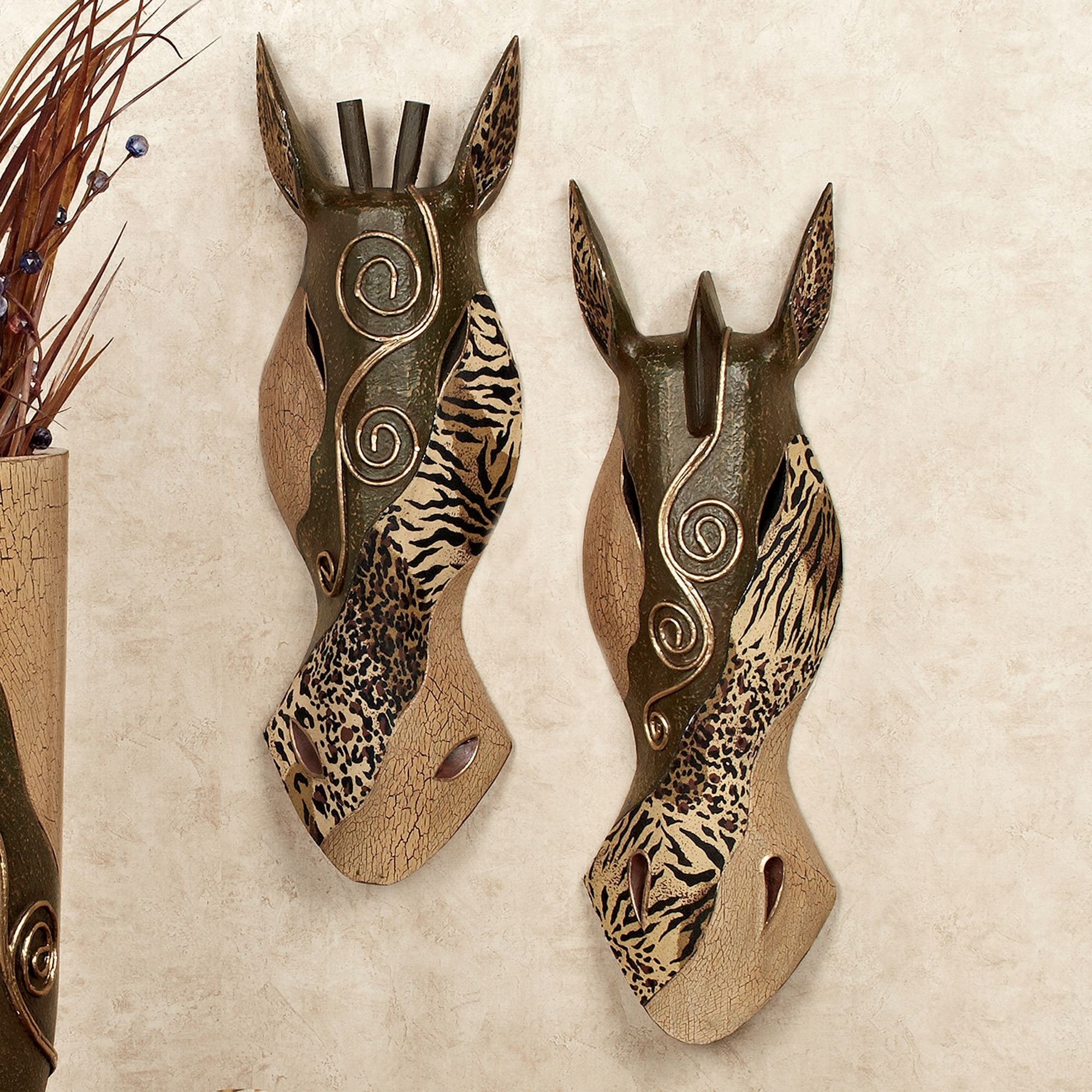 Touch Of Class Pertaining To African Wall Accents (Gallery 7 of 15)