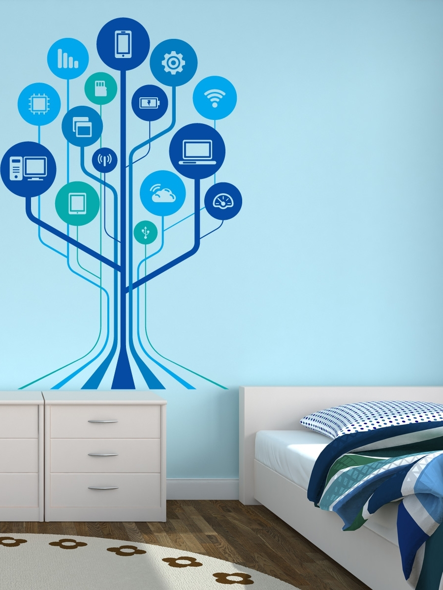 Trendy Adhesive Art Wall Accents Throughout Technology Wall Decals – Google Search (View 10 of 15)