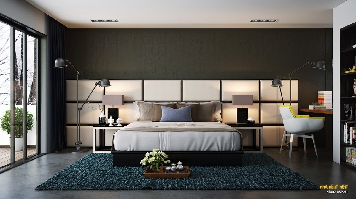 Trendy Bedroom : Outstanding Accent Walls In Bedroom Images Design Wall Inside Wall Accents Behind Bed (View 11 of 15)