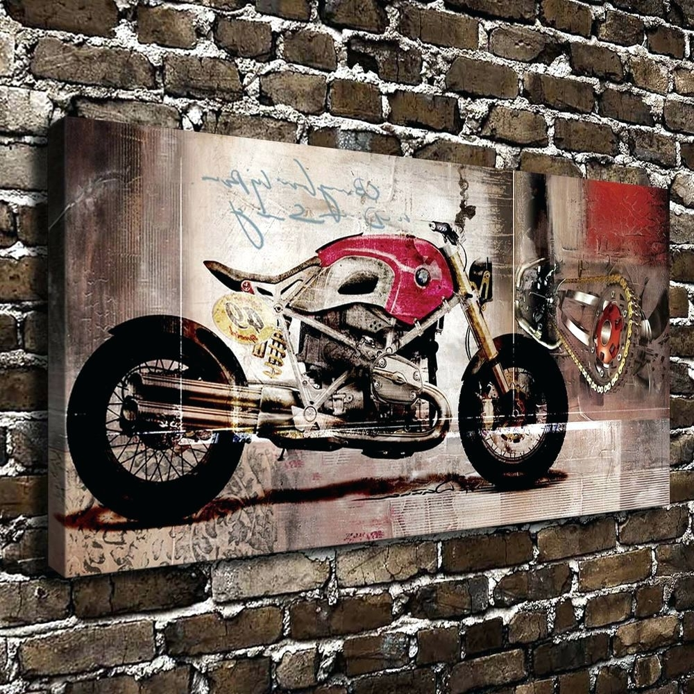 Trendy Bmw Canvas Wall Art Pertaining To Wall Arts ~ Large Motorcycle Wall Art Bmw Harley Motorcycle Hd (View 14 of 15)