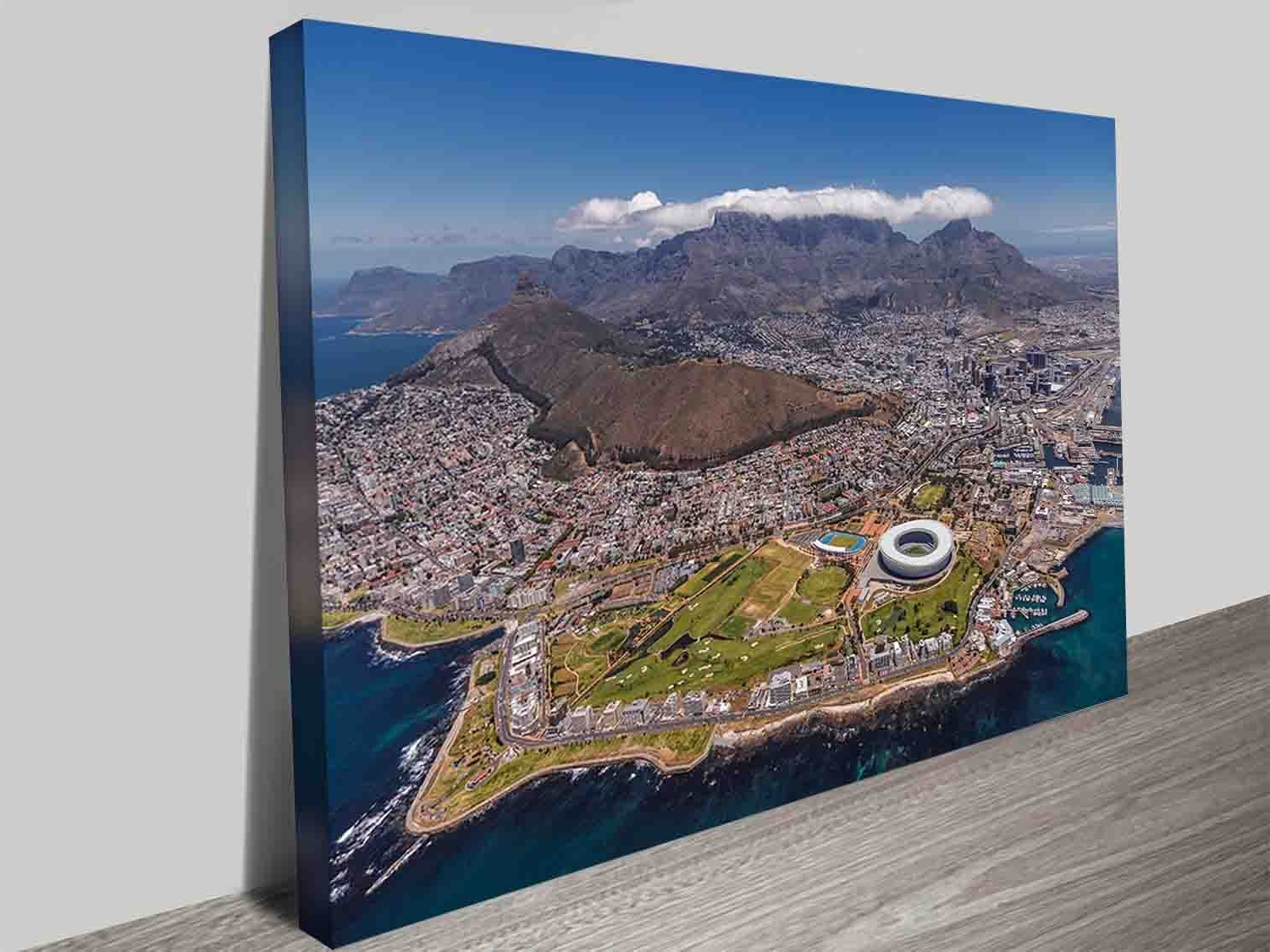 Trendy Cape Town Canvas Wall Art For Cape Town South Africa City Decor Photo Print Wall Art On Canvas (Gallery 2 of 15)