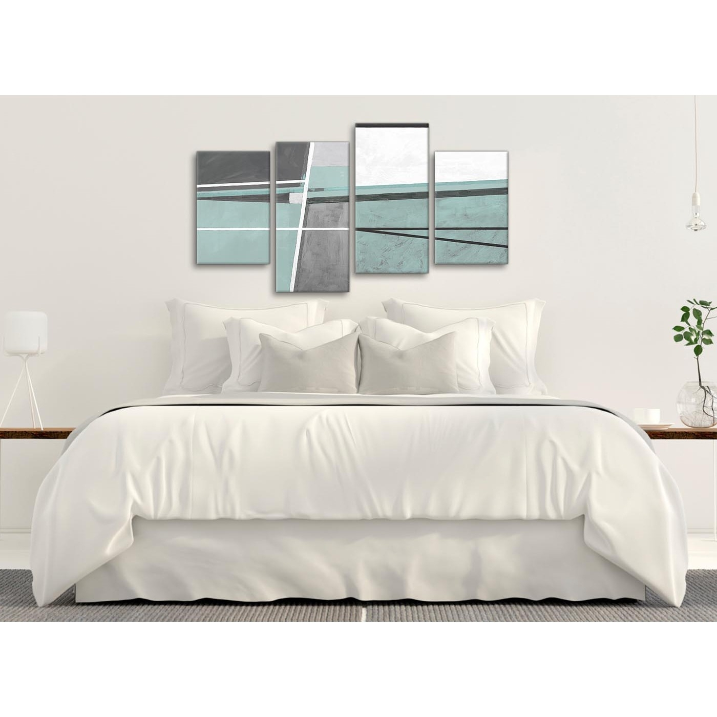 Trendy Duck Egg Blue Canvas Wall Art With Regard To Large Duck Egg Blue Grey Painting Abstract Bedroom Canvas Pictures (View 13 of 15)