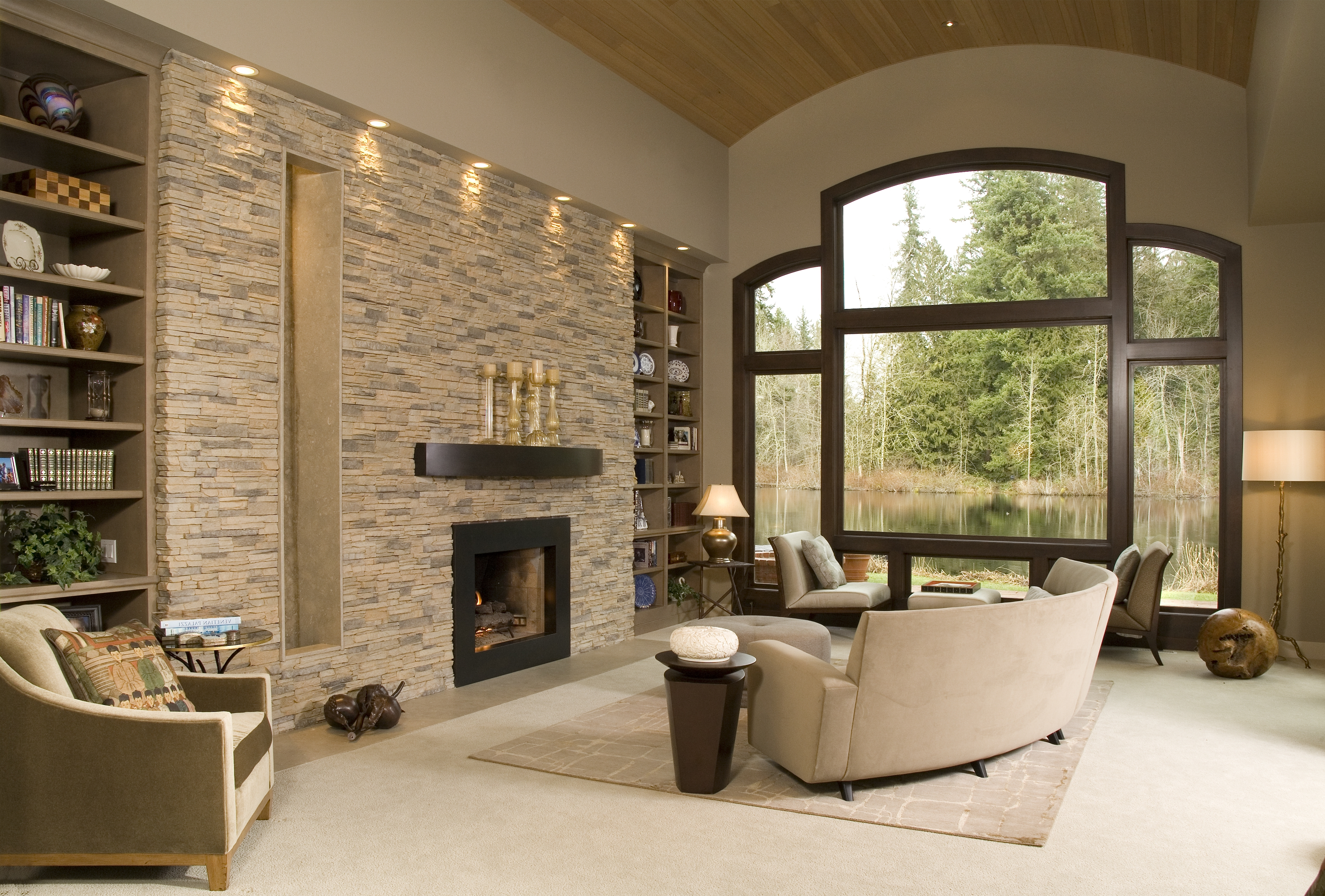 Trendy Eldorado Stone – Accent Wall Alderwood Stacked Stonewould Love Inside Wall Accents For Fireplace (View 9 of 15)