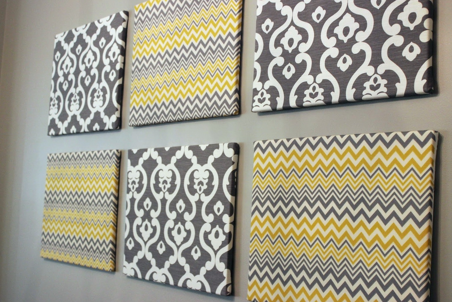 Trendy Fabric Wall Art Canvas (Gallery 10 of 15)