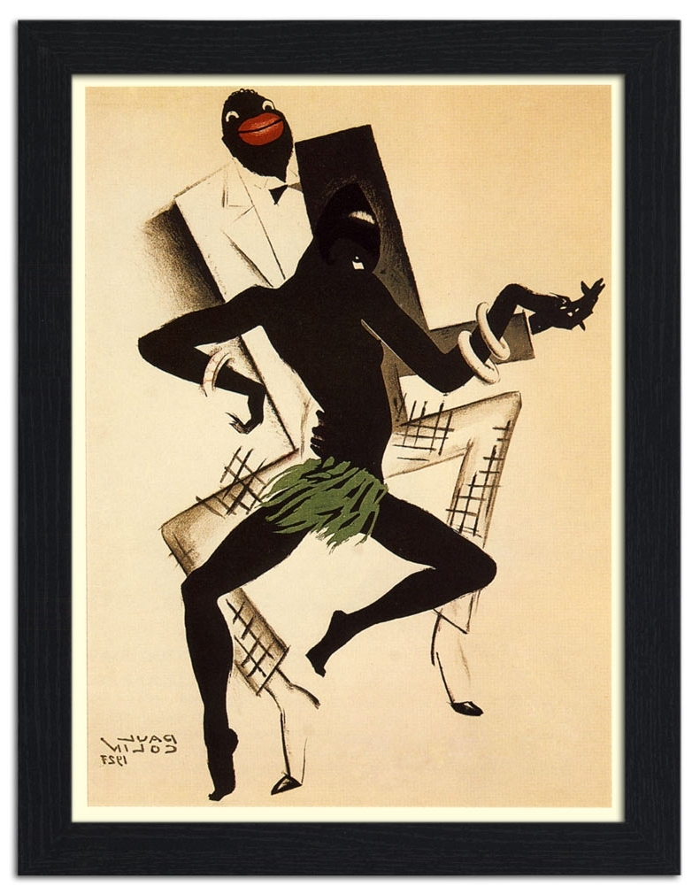 Trendy Framed Art Deco Prints For Ap Frame 978 – Bal Negre, Jazz Art Deco Poster, Artist: Paul Colin (View 5 of 15)