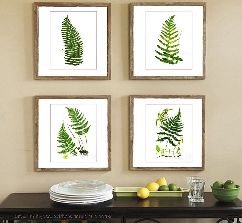 Trendy Framed Botanical Art Prints Inside Botanical Fern Prints Green Antique Botanical Art Unframed Wall (View 8 of 15)