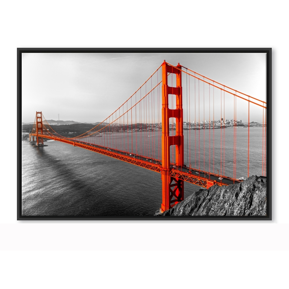 Trendy Golden Gate Bridge Canvas Wall Art With Regard To Framed Canvas Wall  Art Golden Gate