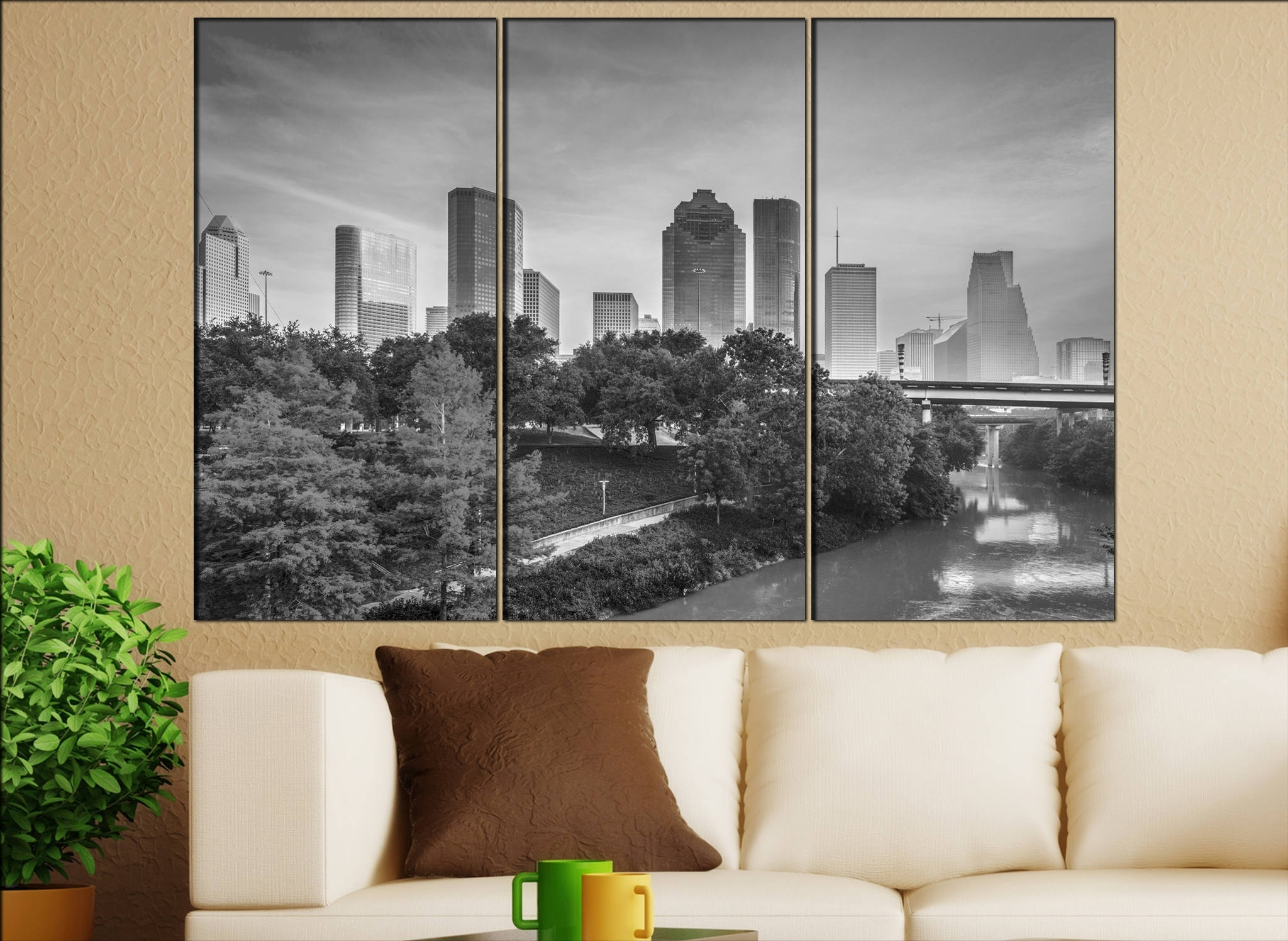 Trendy Houston Canvas Wall Art With Regard To Houston, Texas Canvas Wall Art Houston Wall Decoration Houston (View 14 of 15)