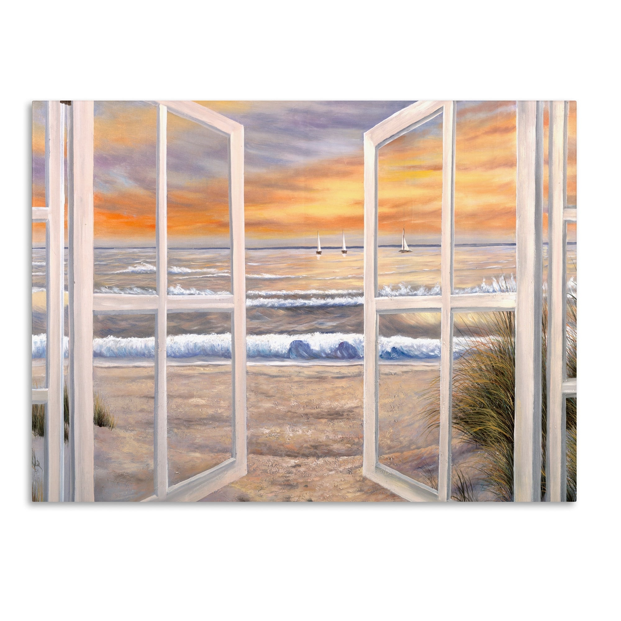 Trendy Joval Canvas Wall Art Throughout Joval 'elongated Window On Canvas' Canvas Wall Art – Free Shipping (View 7 of 15)