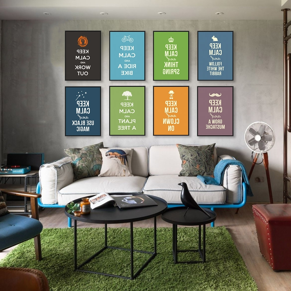 Trendy Keep Calm Canvas Wall Art Regarding Modern Minimalist Motivational Typography Keep Calm Quotes A4 Art (View 11 of 15)