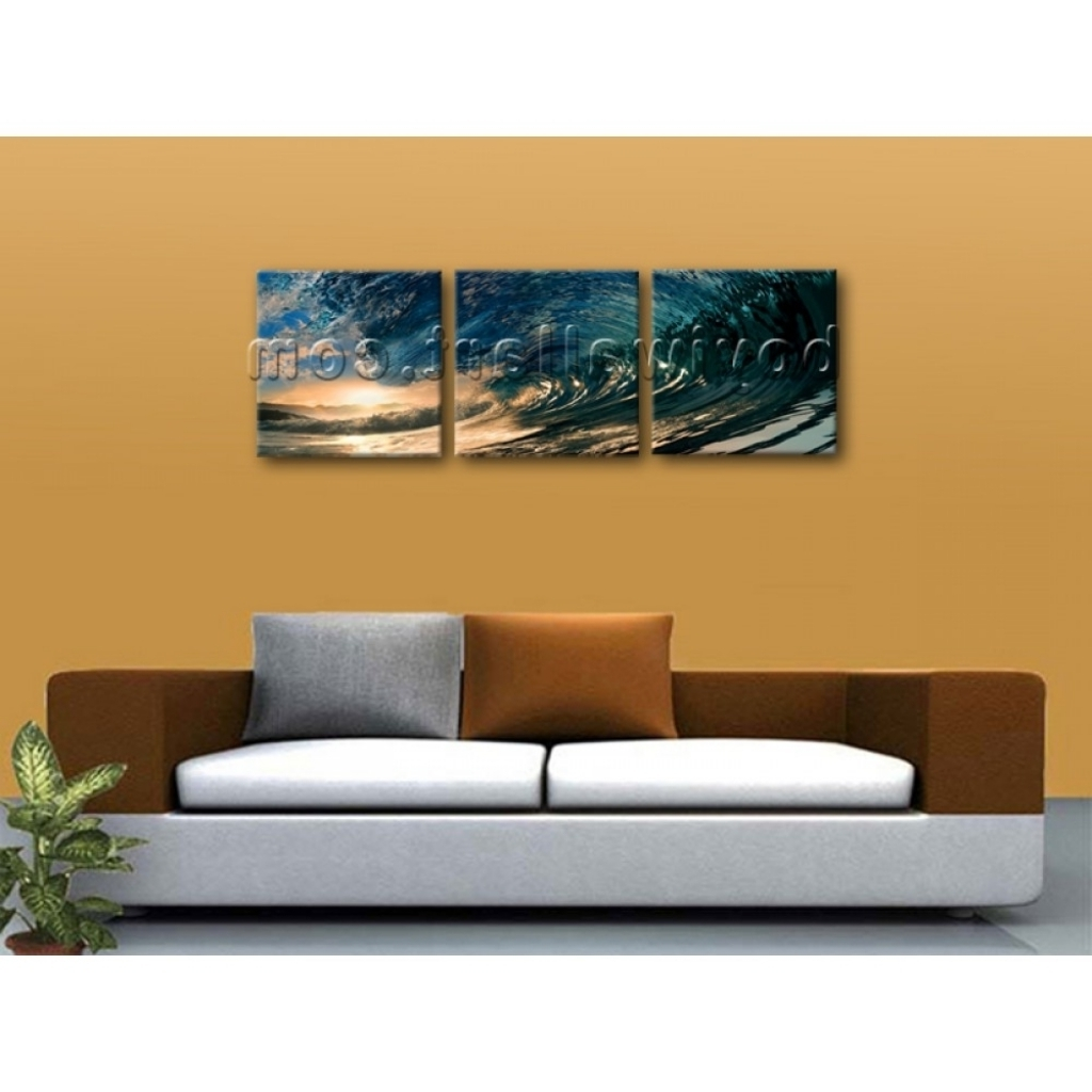 Trendy Mississauga Canvas Wall Art Within Gallant Big Wall Art Canvas Print Hd Ocean Wave Surf Sunset Large (Gallery 9 of 15)