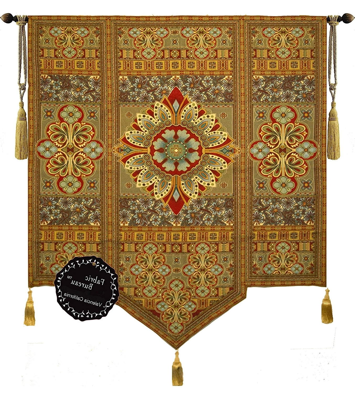 Trendy Moroccan Fabric Wall Art Intended For Amazon: Beautiful Road To Moroccan Large Fine Tapestry (View 12 of 15)