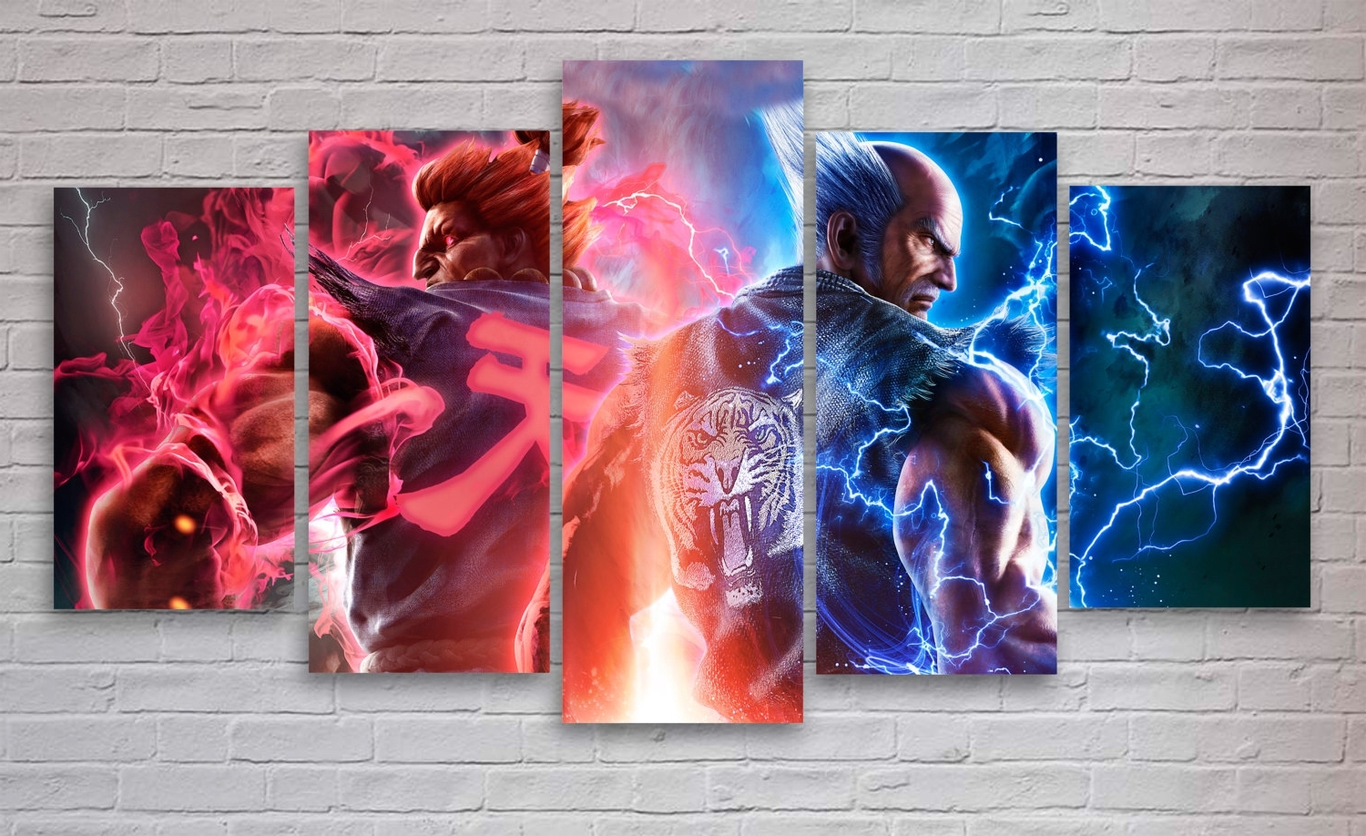 Trendy Tekken 7 Gaming 5 Panel / Piece Canvas – Wall Art – Office With Regard To Gaming Canvas Wall Art (Gallery 4 of 15)