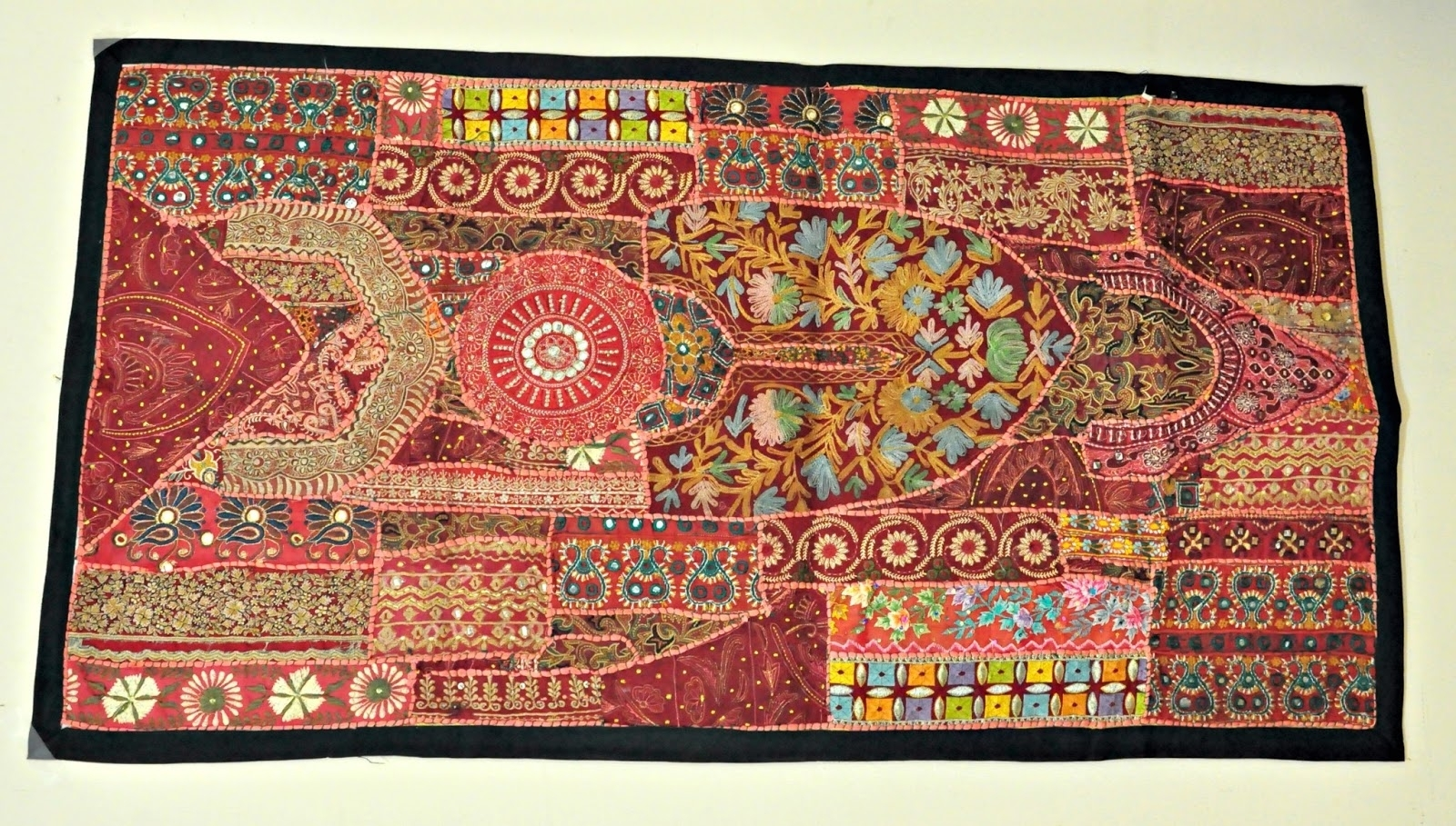 Trendy Vintage Textile Wall Art With Jaipur Handloom: Indian Vintage Handmade Patchwork Tapestry Wall (Gallery 6 of 15)