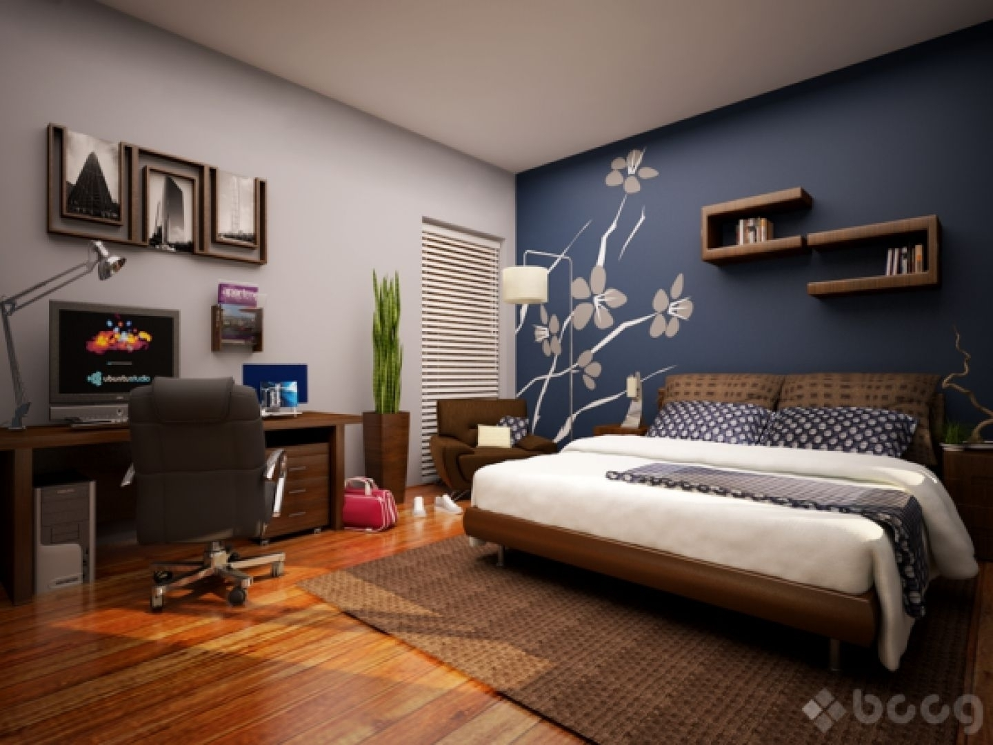 Trendy Wall Accents For Small Bedroom With Regard To Bedroom Design: Accent Wall Ideas For Small Bedroom Awesome (View 10 of 15)