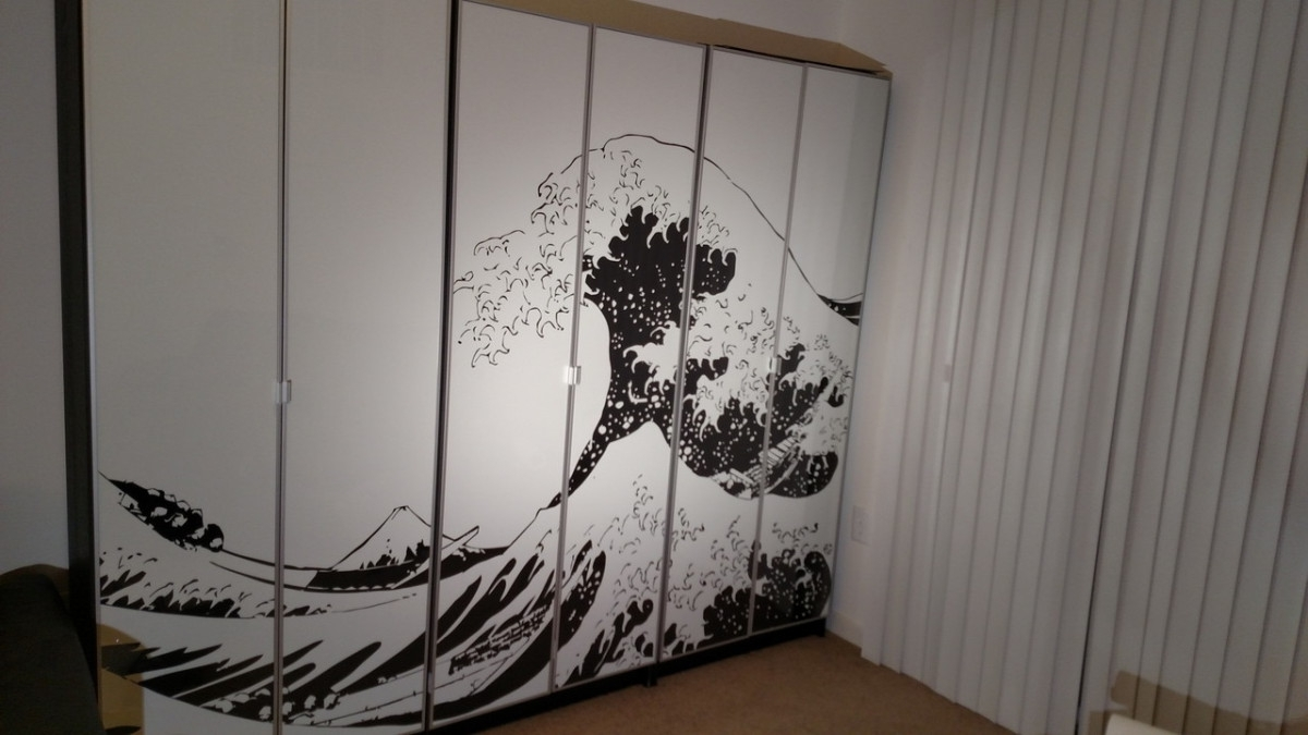 Turn Billy Bookcases Into Bold, Large Wall Art – Ikea Hackers Intended For Popular Ikea Fabric Wall Art (View 14 of 15)