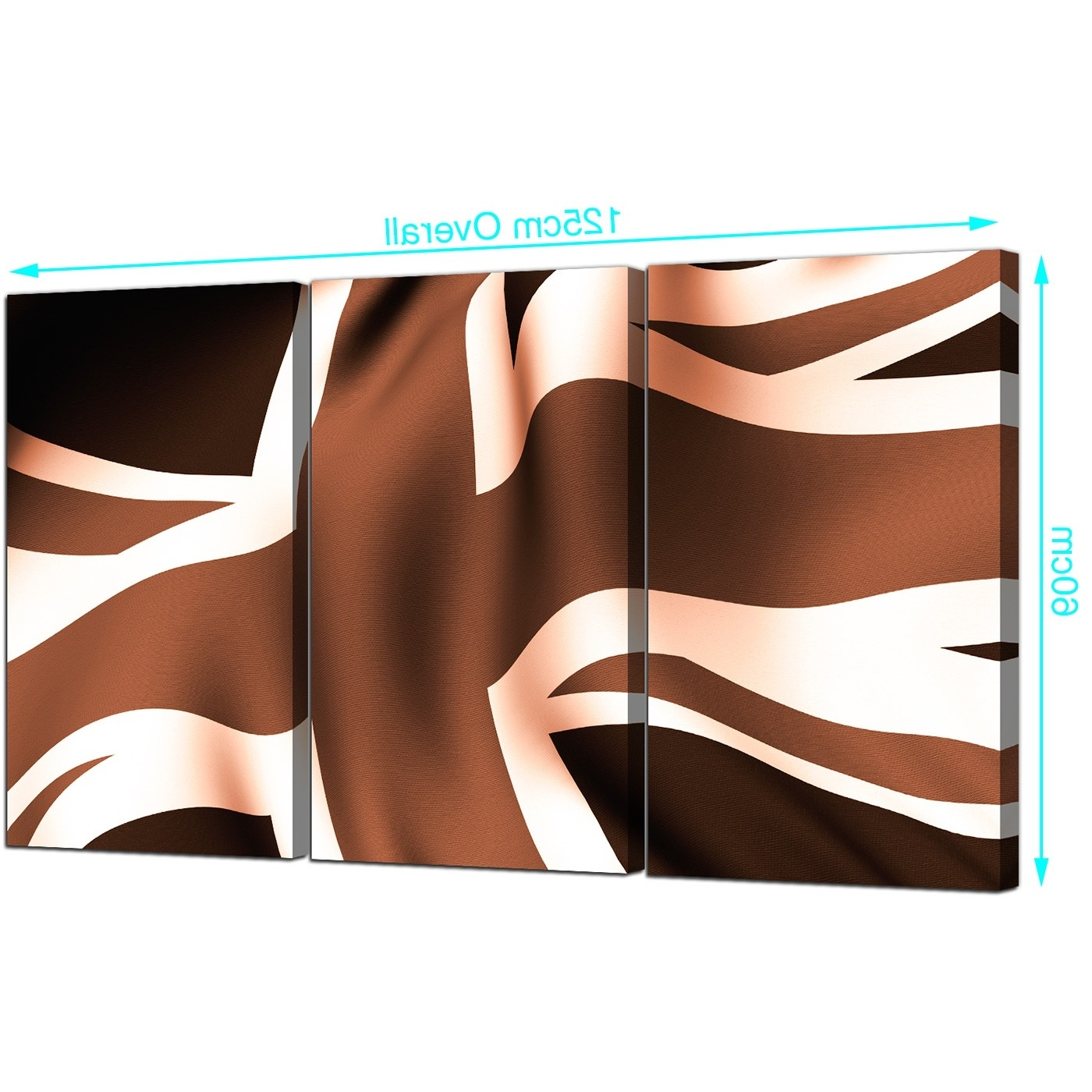 Union Jack Canvas Prints Set Of 3 For Your Dining Room Intended For Widely Used Union Jack Canvas Wall Art (View 7 of 15)