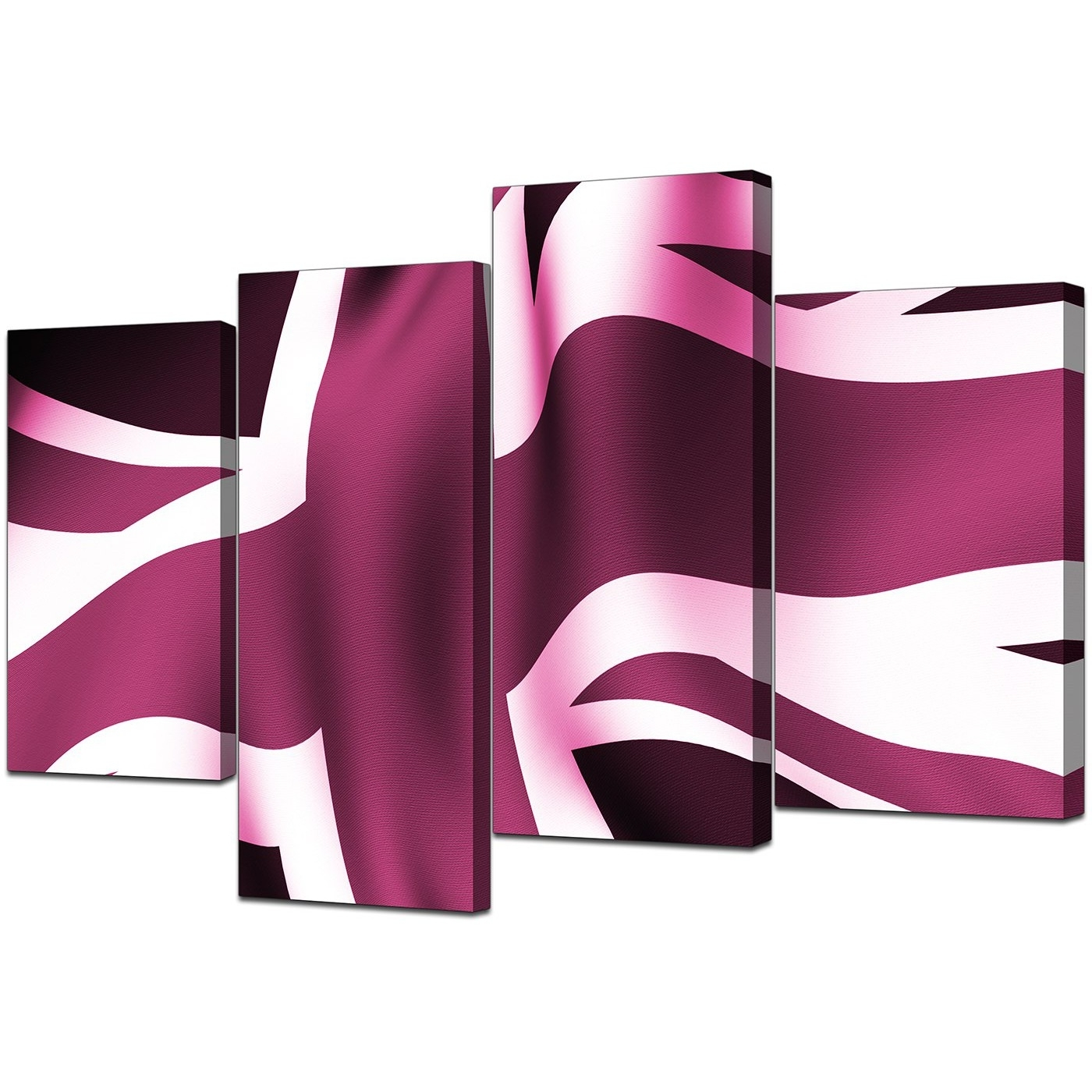 Union Jack Canvas Wall Art Within Recent Modern Union Jack Canvas Prints In Plum – For Bedroom (Gallery 8 of 15)