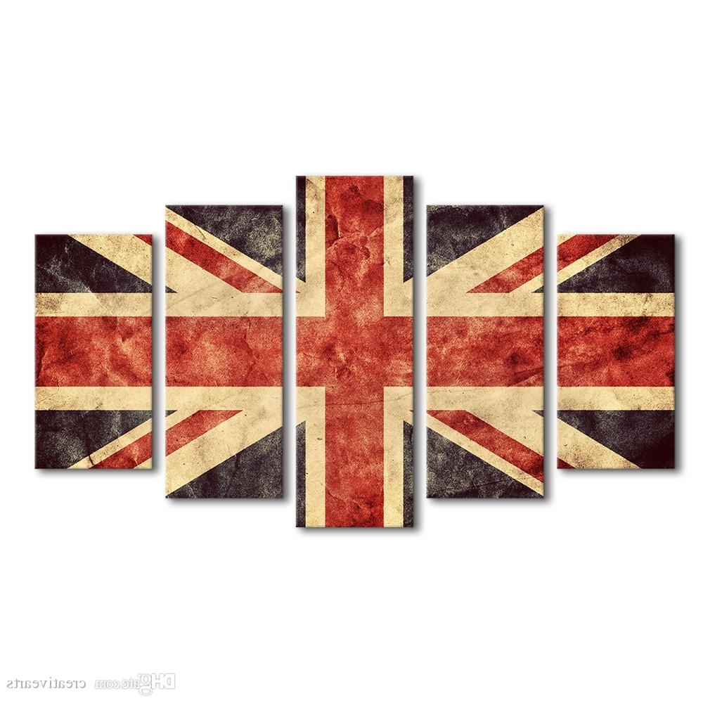 Union Jack Giclee Painting Creative Flag Of Great Britain Canvas With Regard To Trendy Union Jack Canvas Wall Art (Gallery 3 of 15)