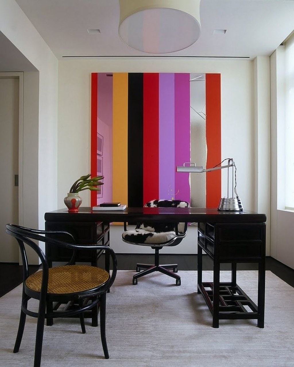 Unique Wall Accents Throughout Popular Office: Unique Wall Art Additions Brings Stripes To The Home (View 10 of 15)