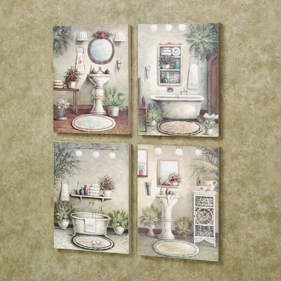 Vintage Bath Framed Art Prints Set Of 3 With Regard To 2018 Wall Decor : Vintage Bathroom Wall Art Black And White Bathroom (Gallery 5 of 15)
