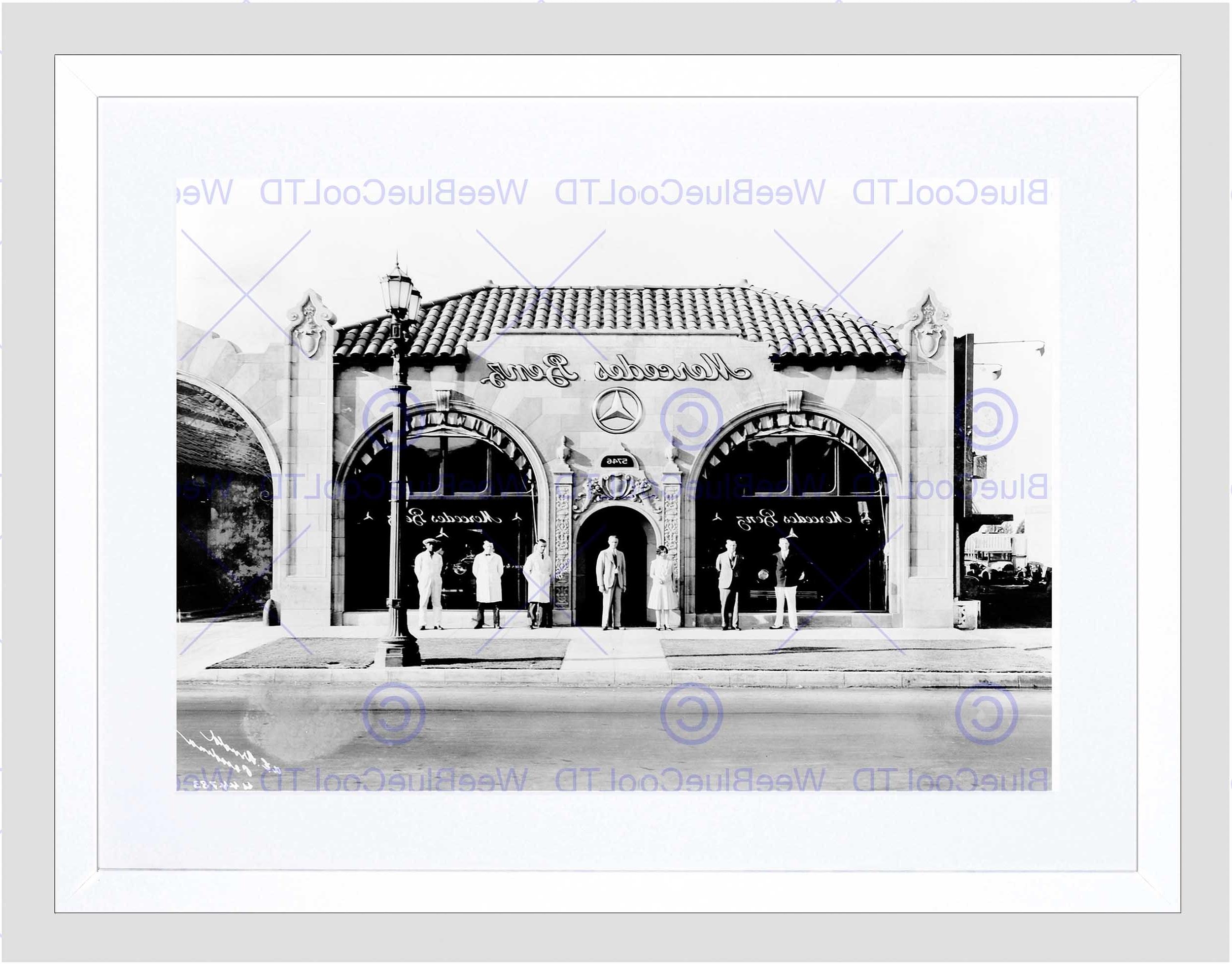 Vintage Car Automobile Sale Shop Pasadena Los Angeles Framed Art Within Trendy Los Angeles Framed Art Prints (Gallery 11 of 15)