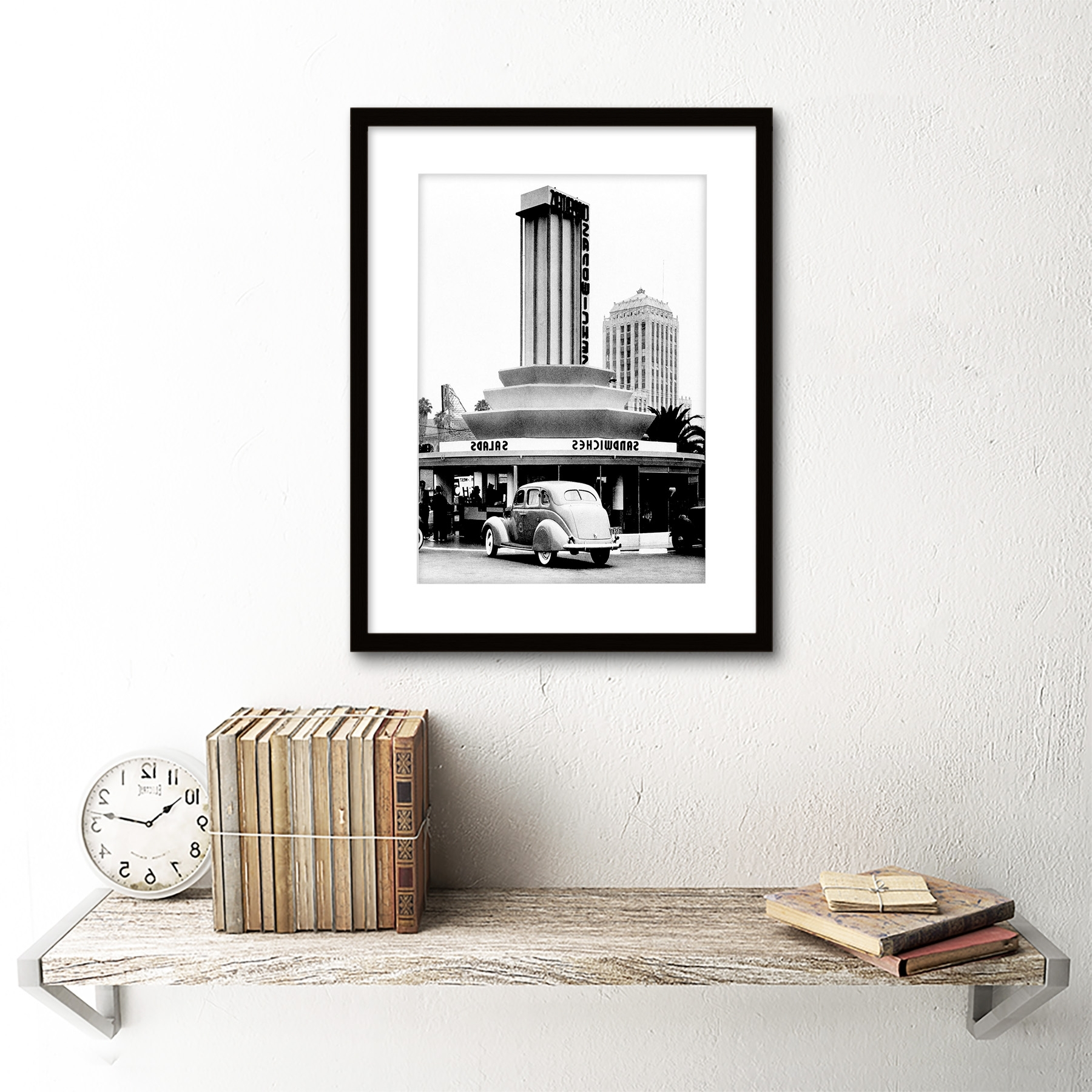 Vintage Sandwich Shop Los Angeles California Usa Framed Art Print With Most Recent Los Angeles Framed Art Prints (Gallery 1 of 15)