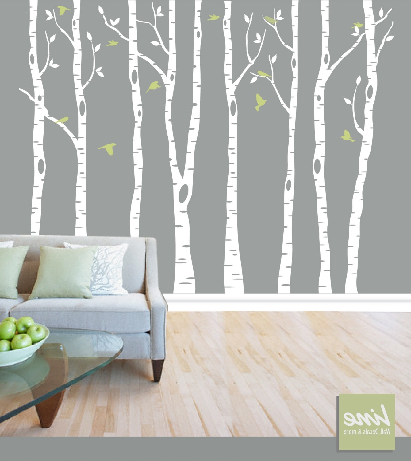 Vinyl Stickers Wall Accents Regarding Well Known Wall Birch Tree Decal Forest, Birch Trees, Birch Trees Vinyl (View 7 of 15)