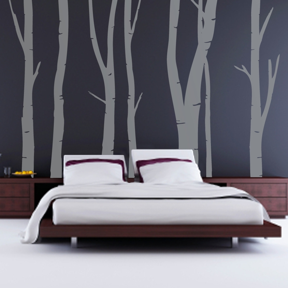 Wall Accent Decals Regarding Well Known Decorations : Modern Black Modern Wall Bedroom Featuring Gray (View 10 of 15)