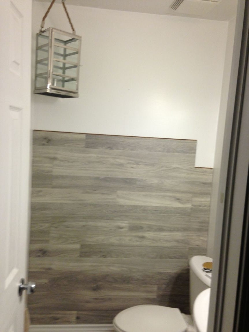 Wall Accents Behind Toilet Inside Popular Bored To Floored: Laminate Floor Accent Wall Diy (View 12 of 15)