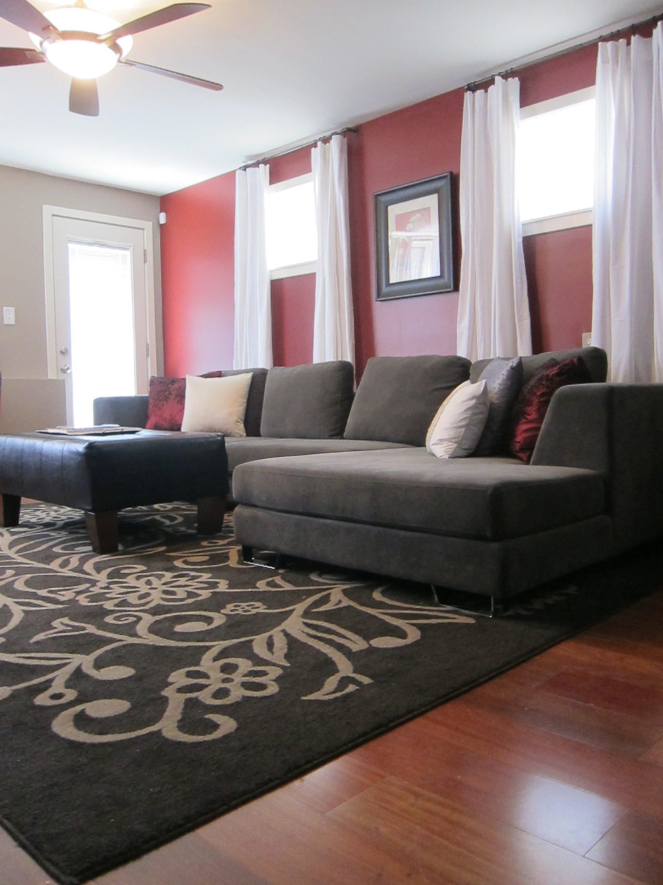 Wall Accents Behind Tv Or Couch With Regard To Favorite A Philadelphia Tv Host's Home! Complete With A Red Accent Wall (View 14 of 15)