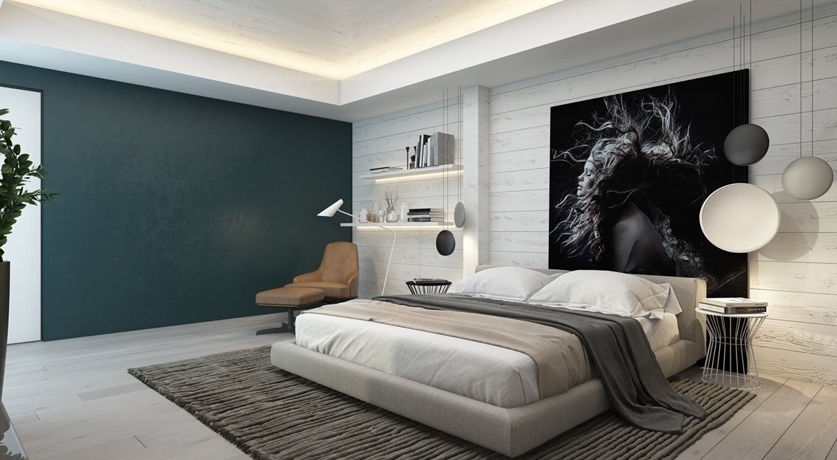 High Quality Wall Accents For Bedroom With Most Current Bedrooms With Brilliant Accent  Walls (Gallery 6 Of