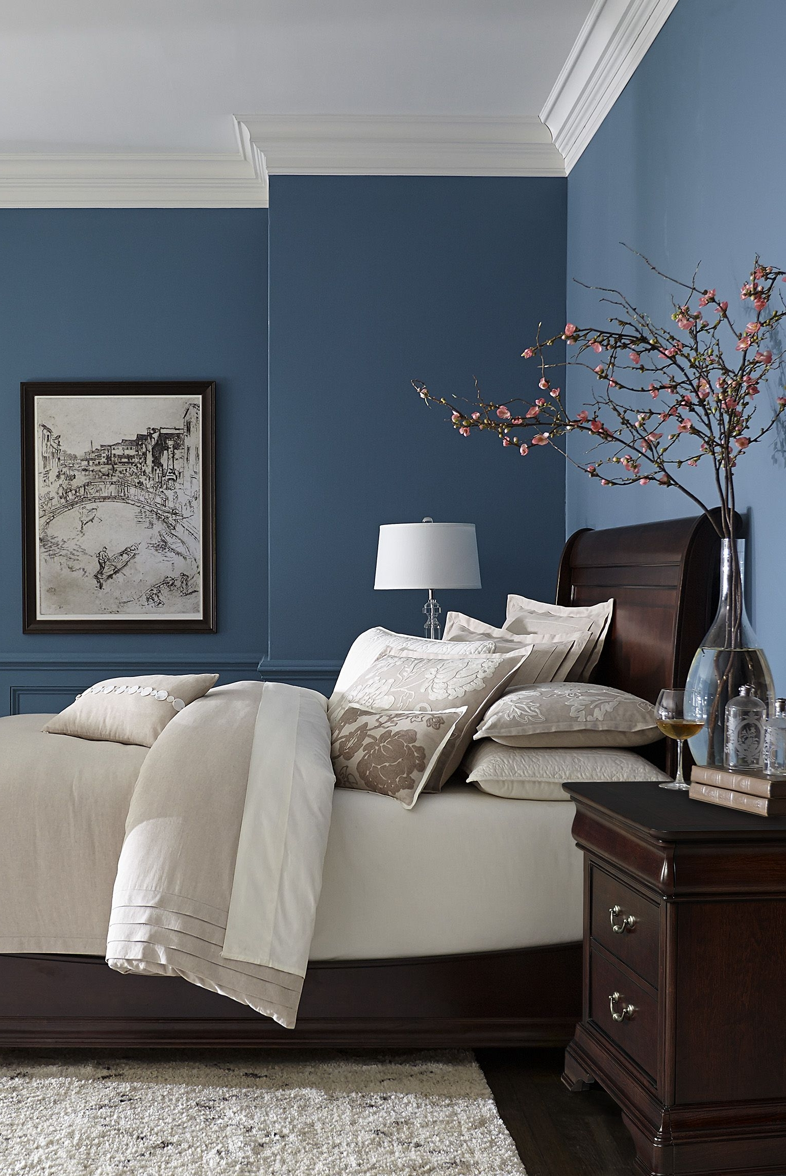 Wall Accents For Blue Room Within Fashionable Made With Hardwood Solids With Cherry Veneers And Walnut Inlays (View 9 of 15)