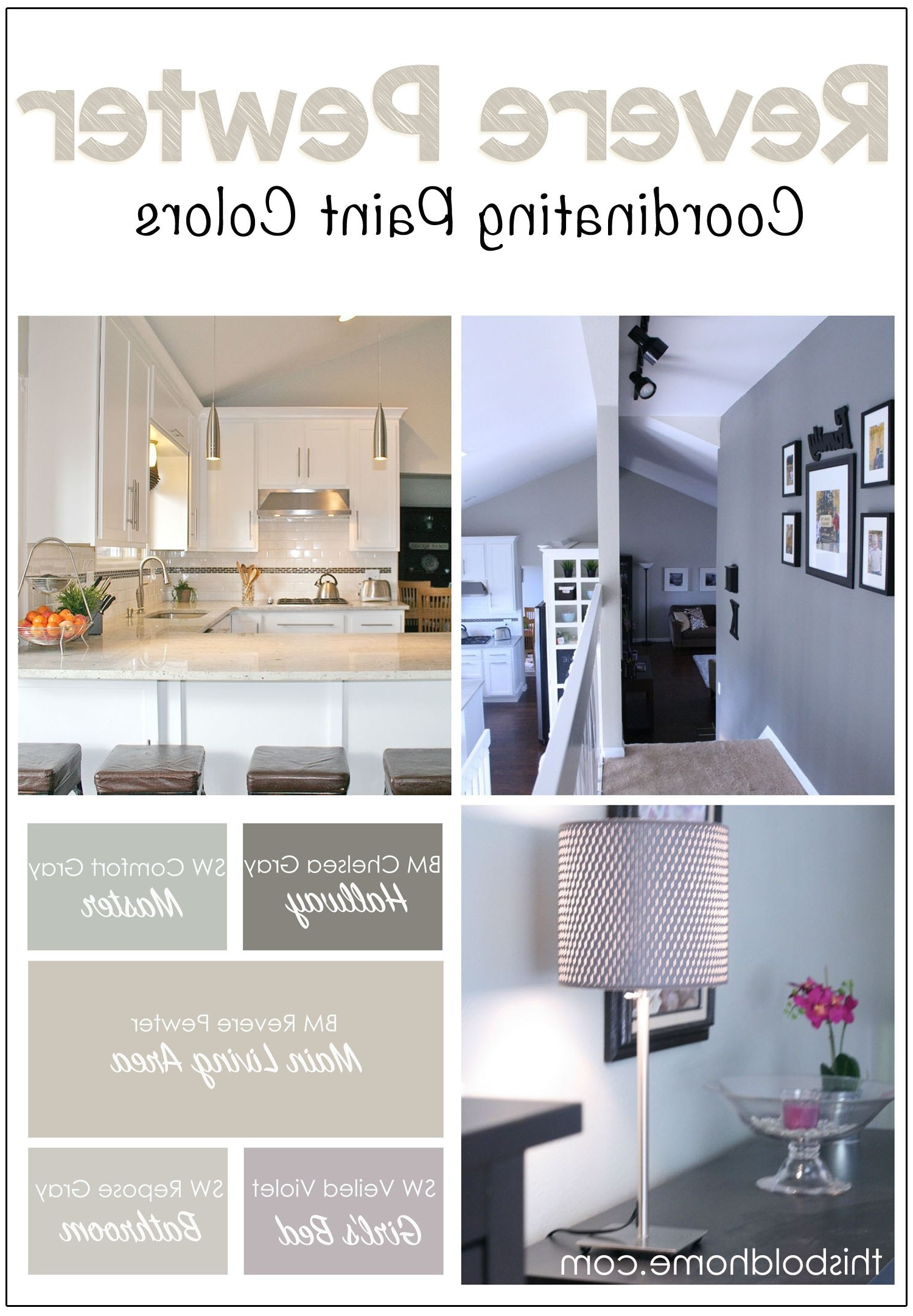 Wall Accents For Revere Pewter For Favorite Revere Pewter Coordinating Paint Colors – This Bold Home (View 4 of 15)