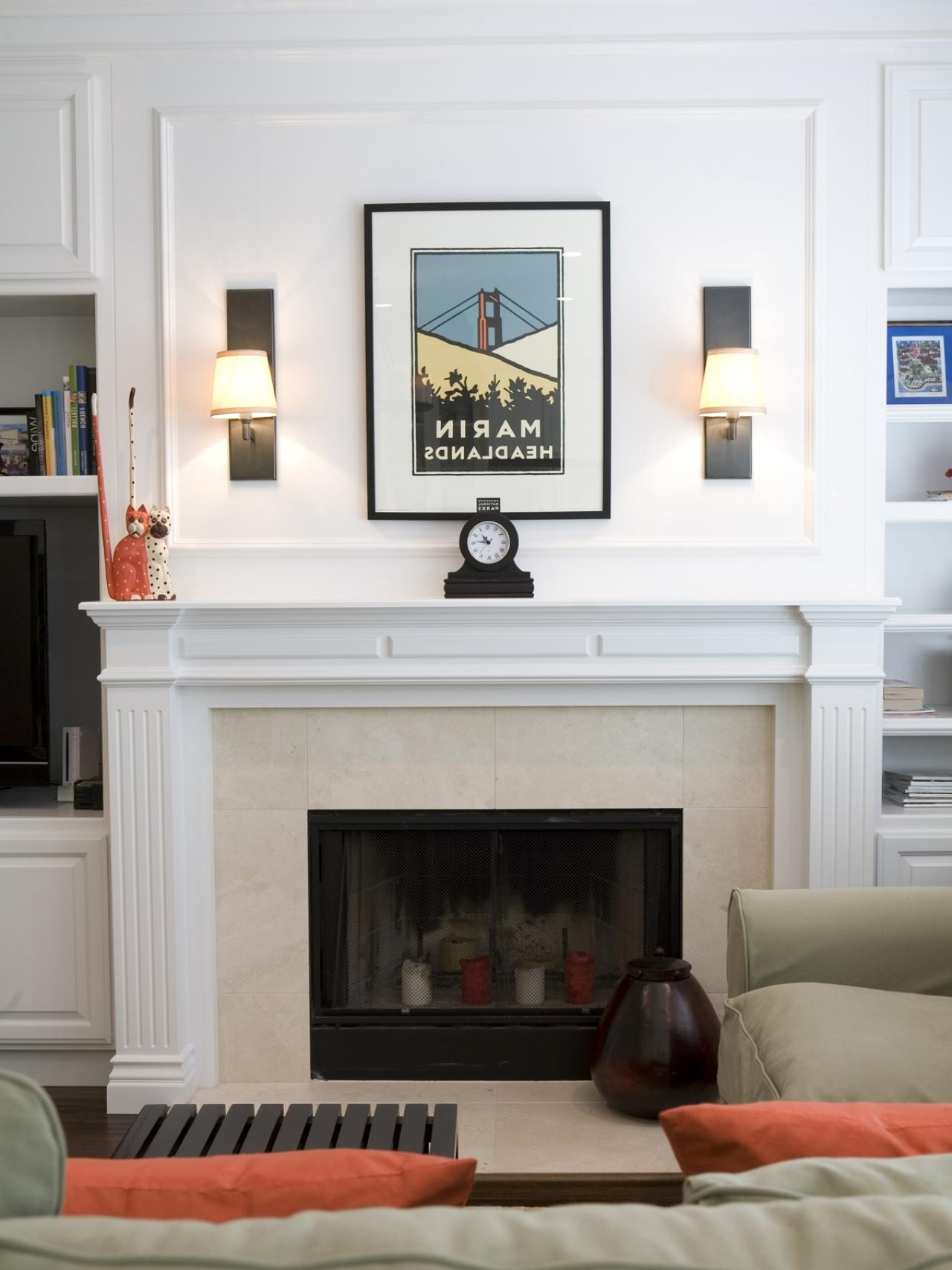 Wall Accents Over Fireplace Pertaining To Most Recently Released Decorating: Elegant Ikea Accent Chairs With Ikea Side Table And (View 14 of 15)