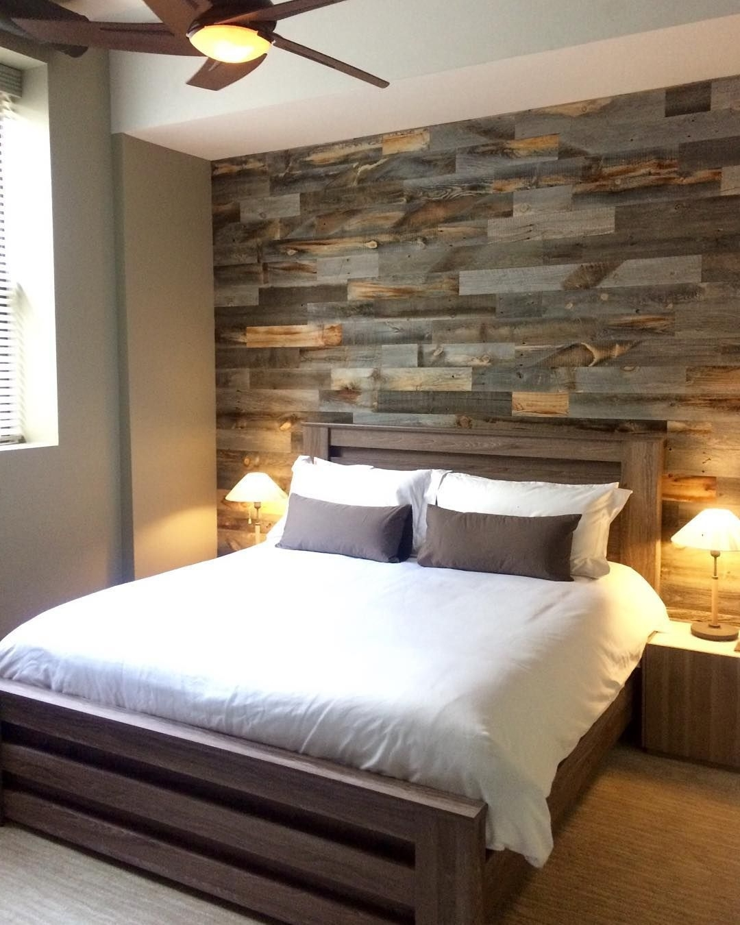 Wall Accents With Pallets Regarding 2017 Diy Easy Peel And Stick Wood Wall Decor (View 10 of 15)