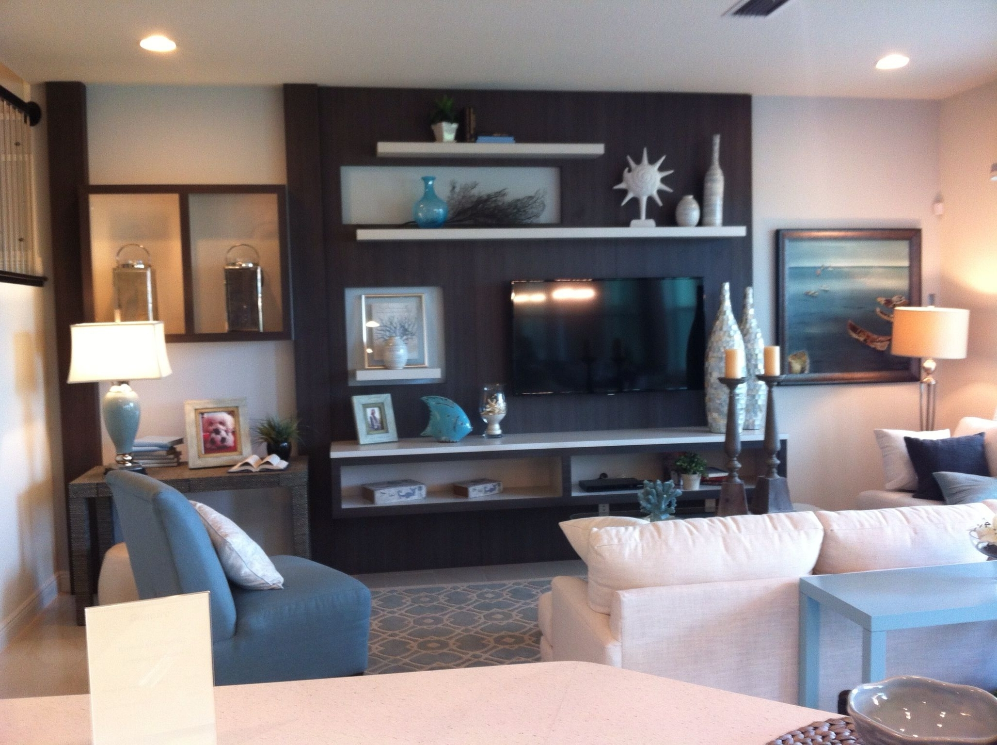 Wall Accents With Tv In Well Known Add An Accent Color In A Large Area Behind The Tv, But Maybe Not (View 2 of 15)