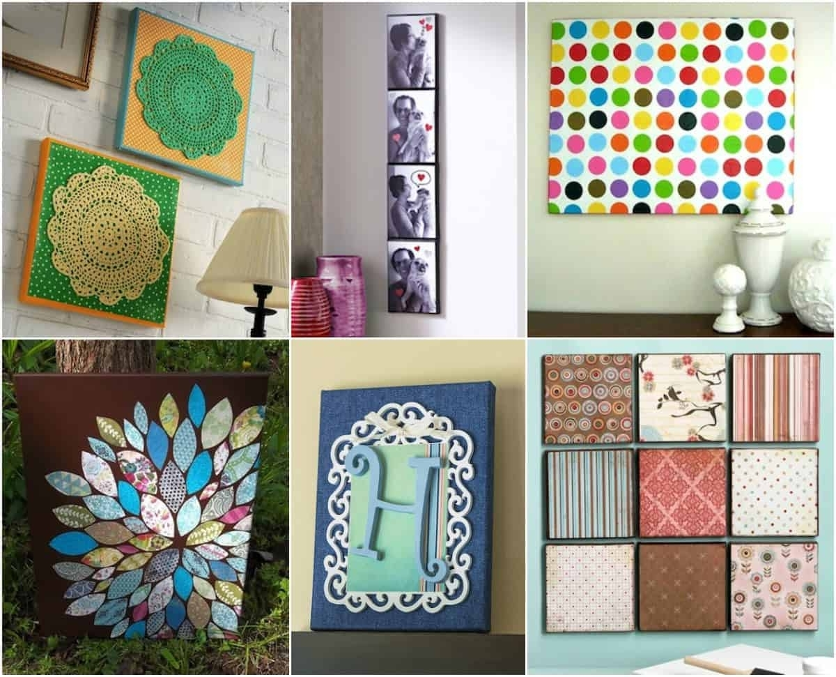 Wall Art – 20 Ways To Mod Podge Canvas – Mod Podge Rocks Within Preferred Mod Podge Fabric Wall Art (View 13 of 15)