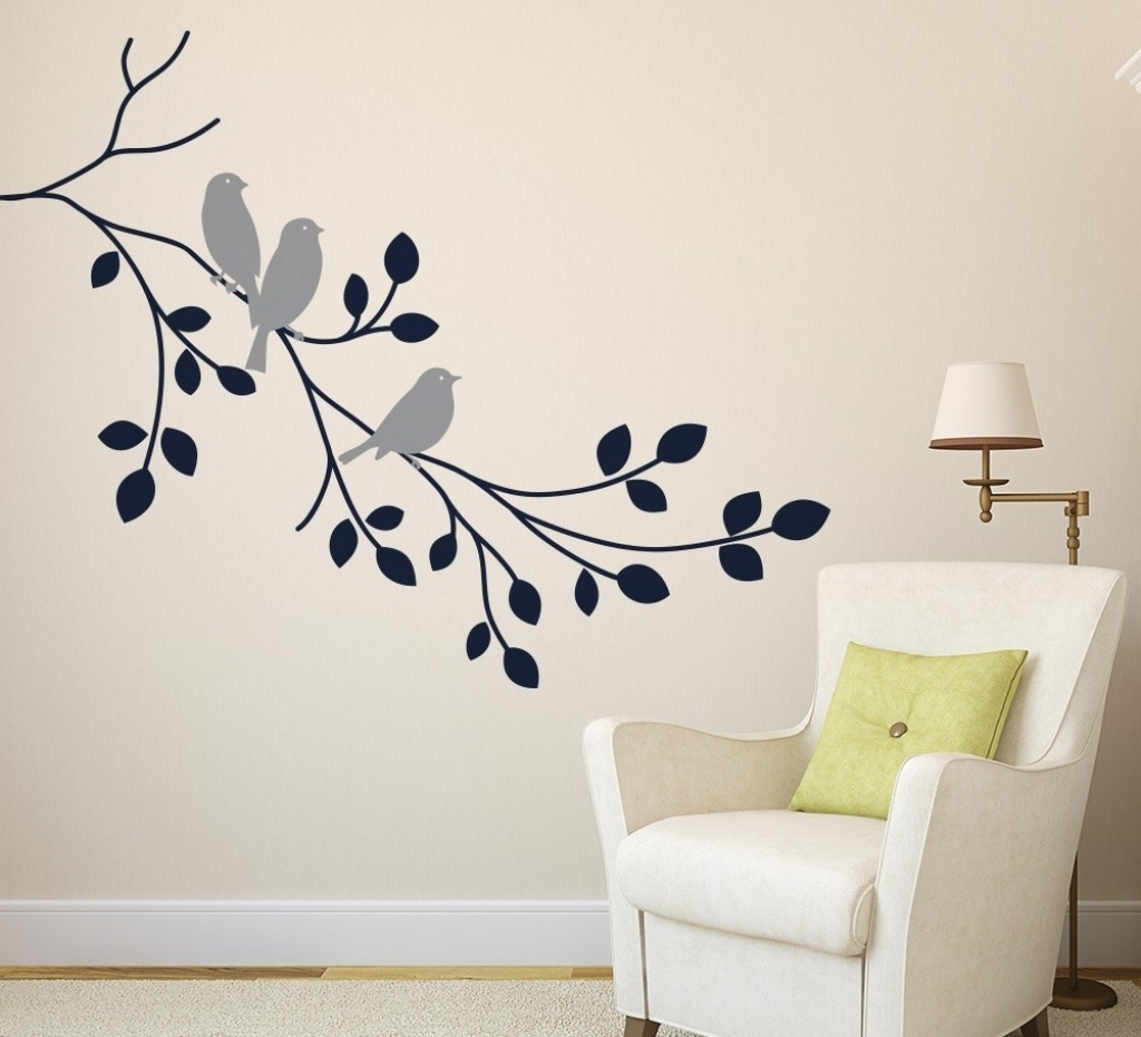 Wall Art Decals Design Decorate Wall Art Decals Ideas For Wall For Popular Adhesive Art Wall Accents (View 13 of 15)