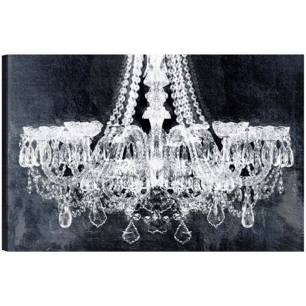 Wall Art: Stunning Chandelier Canvas Art Chandelier Wall Decor For Most  Recent Chandelier Canvas Wall