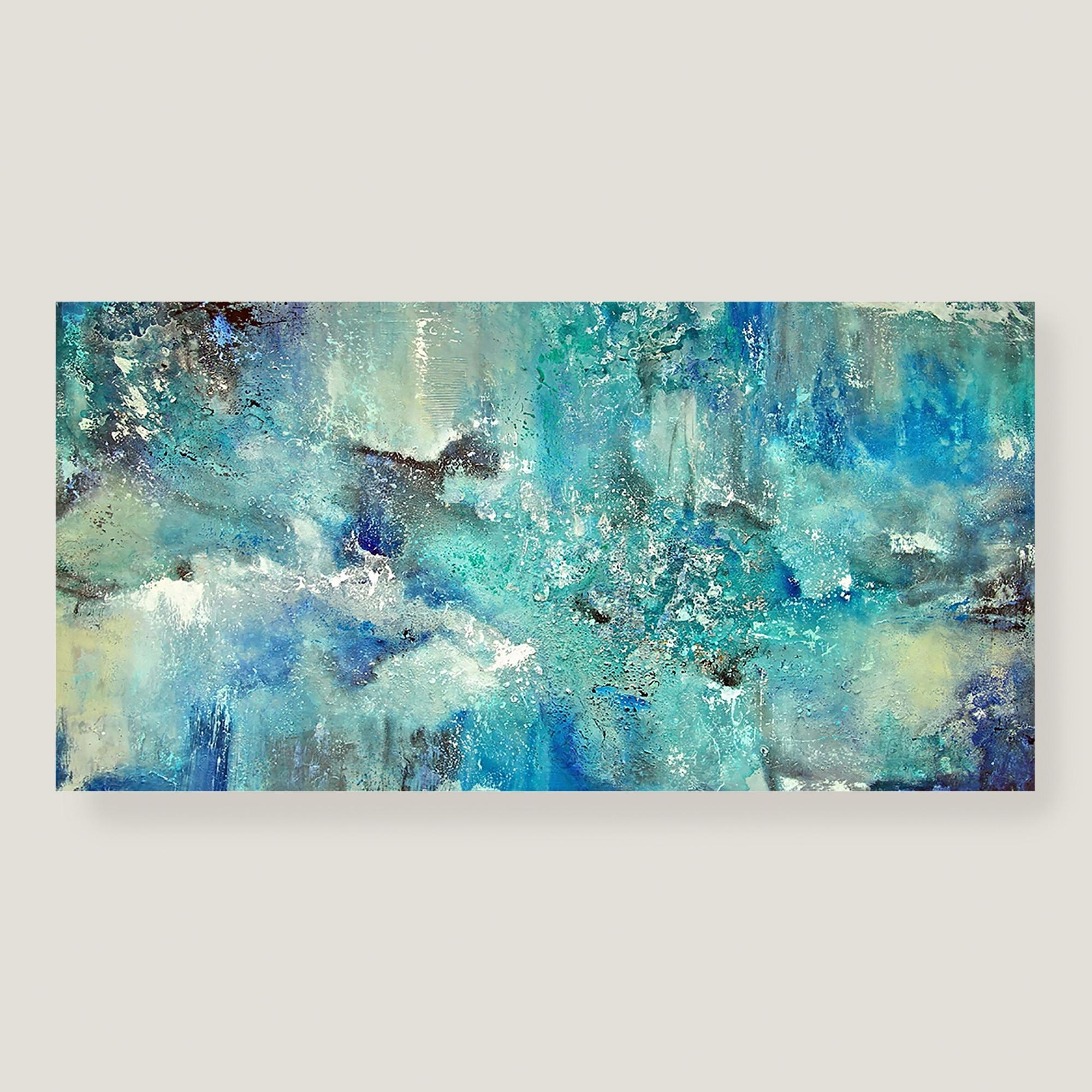 Wall Art: Top 10 Sample Images Blue Canvas Wall Art Blue Floral Within Well Liked Duck Egg Blue Canvas Wall Art (View 15 of 15)