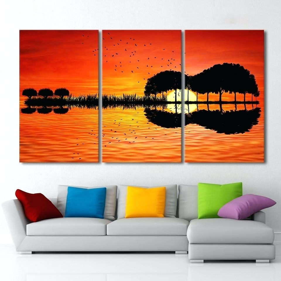 Wall Arts ~ 3 Piece Canvas Art Beach Canvas 3 Piece Wall Art Within Well Liked Canvas Wall Art In Canada (View 11 of 15)