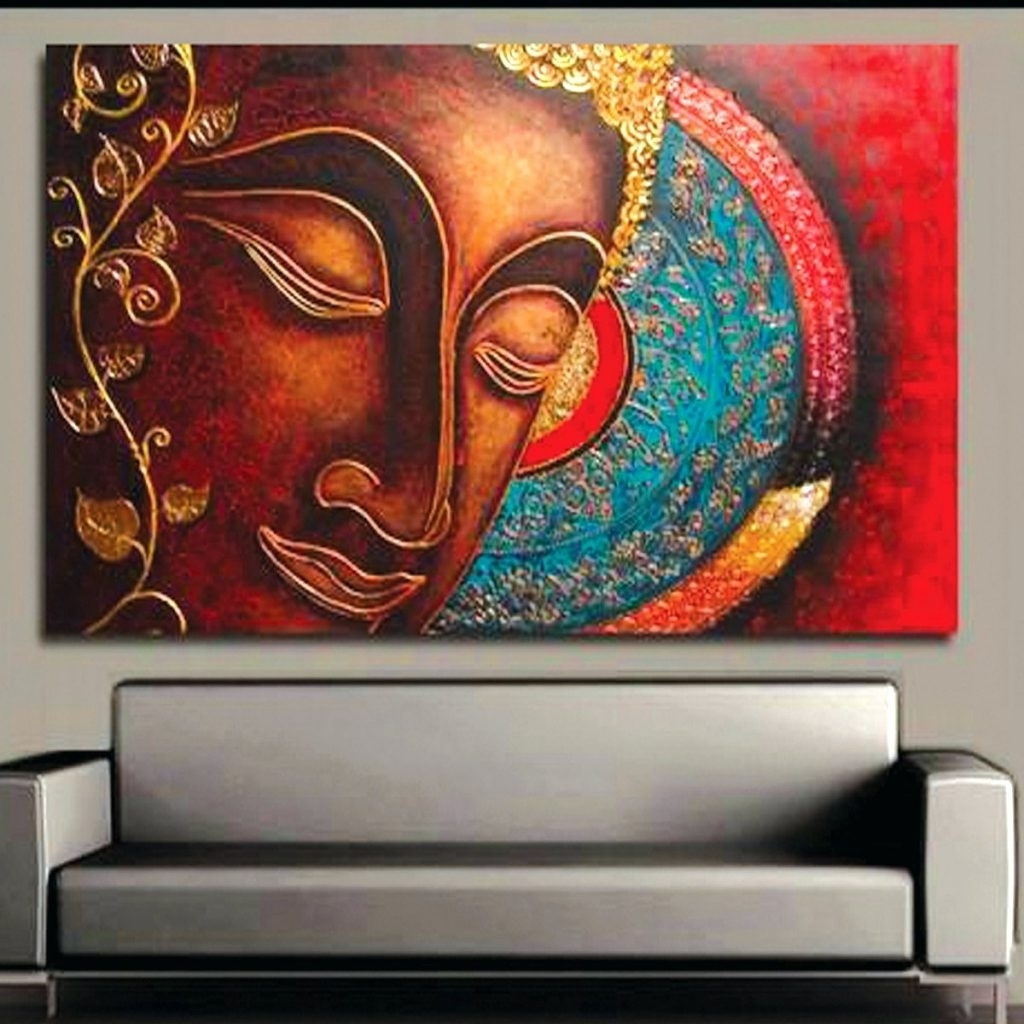 Wall Arts ~ Buddha Wall Art Amazon Buddha Wall Art Pier 1 Buddha With Regard To Best And Newest India Canvas Wall Art (View 13 of 15)
